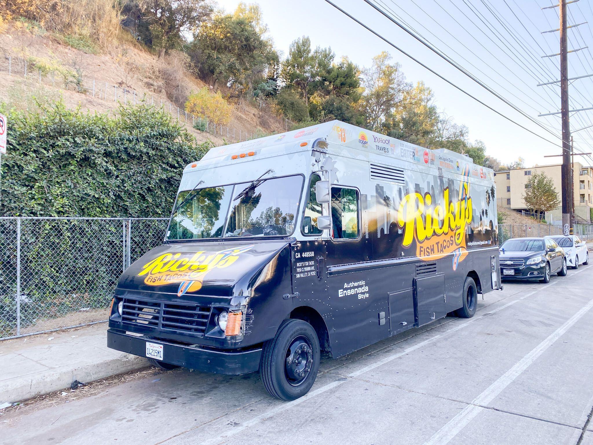 Ricky's Fish Taco Truck in December, 2020
