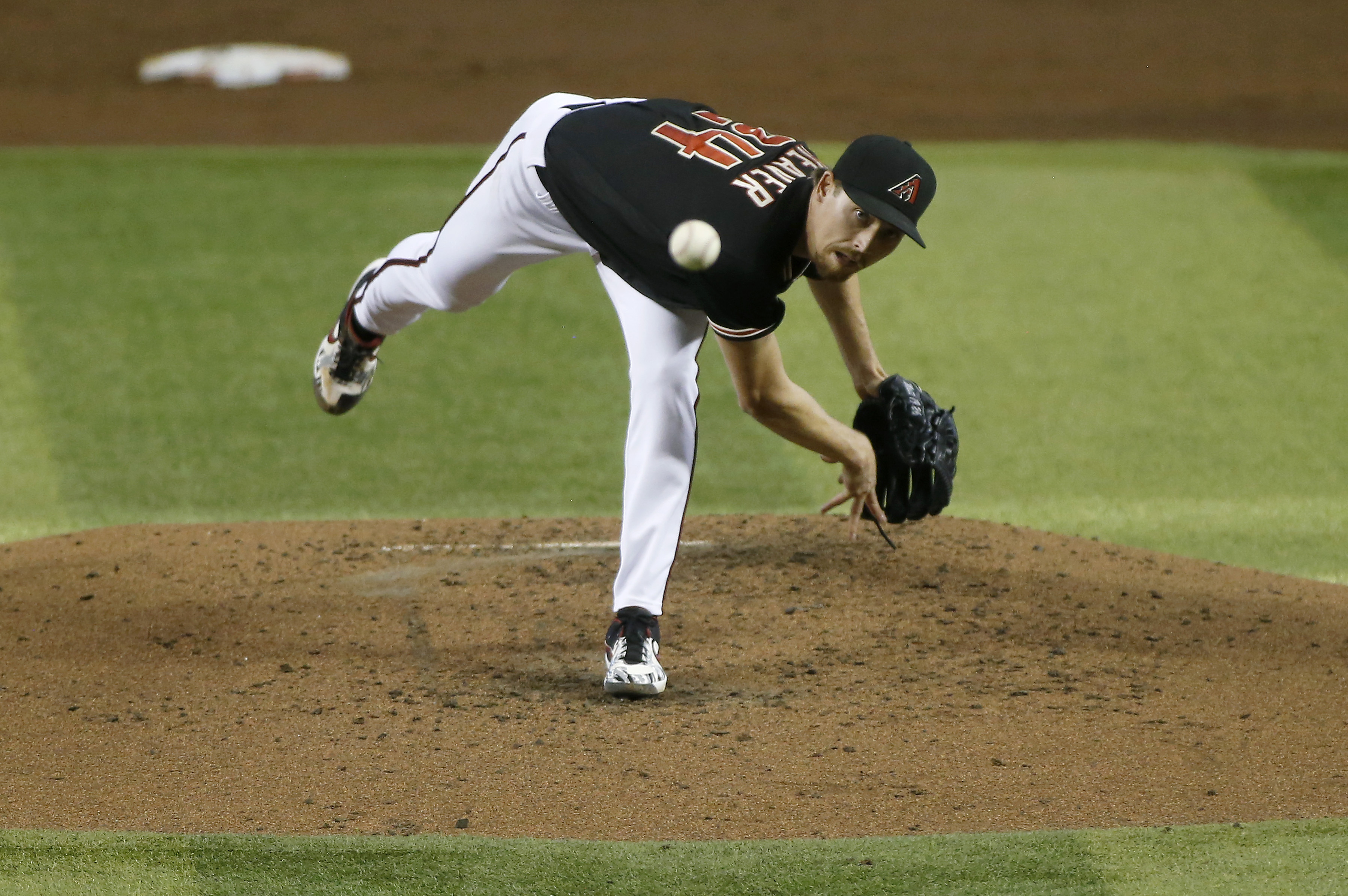 Luke Weaver on the mound.