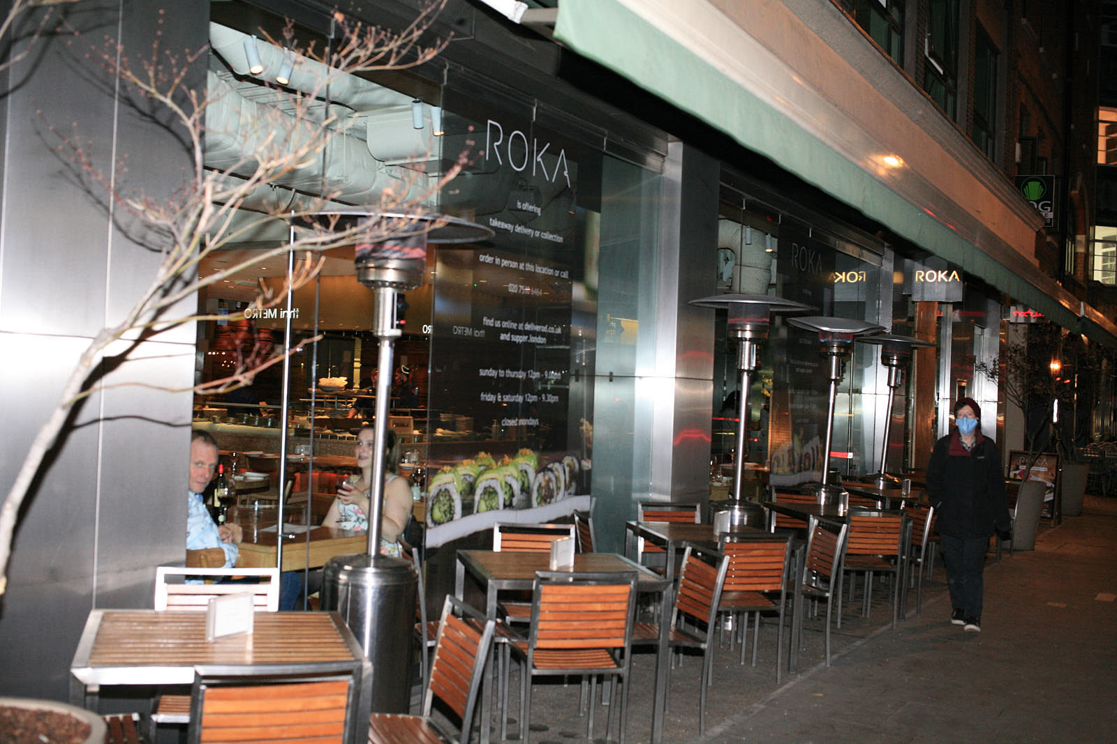 Roka, reopening after the coronavirus lockdown in central London