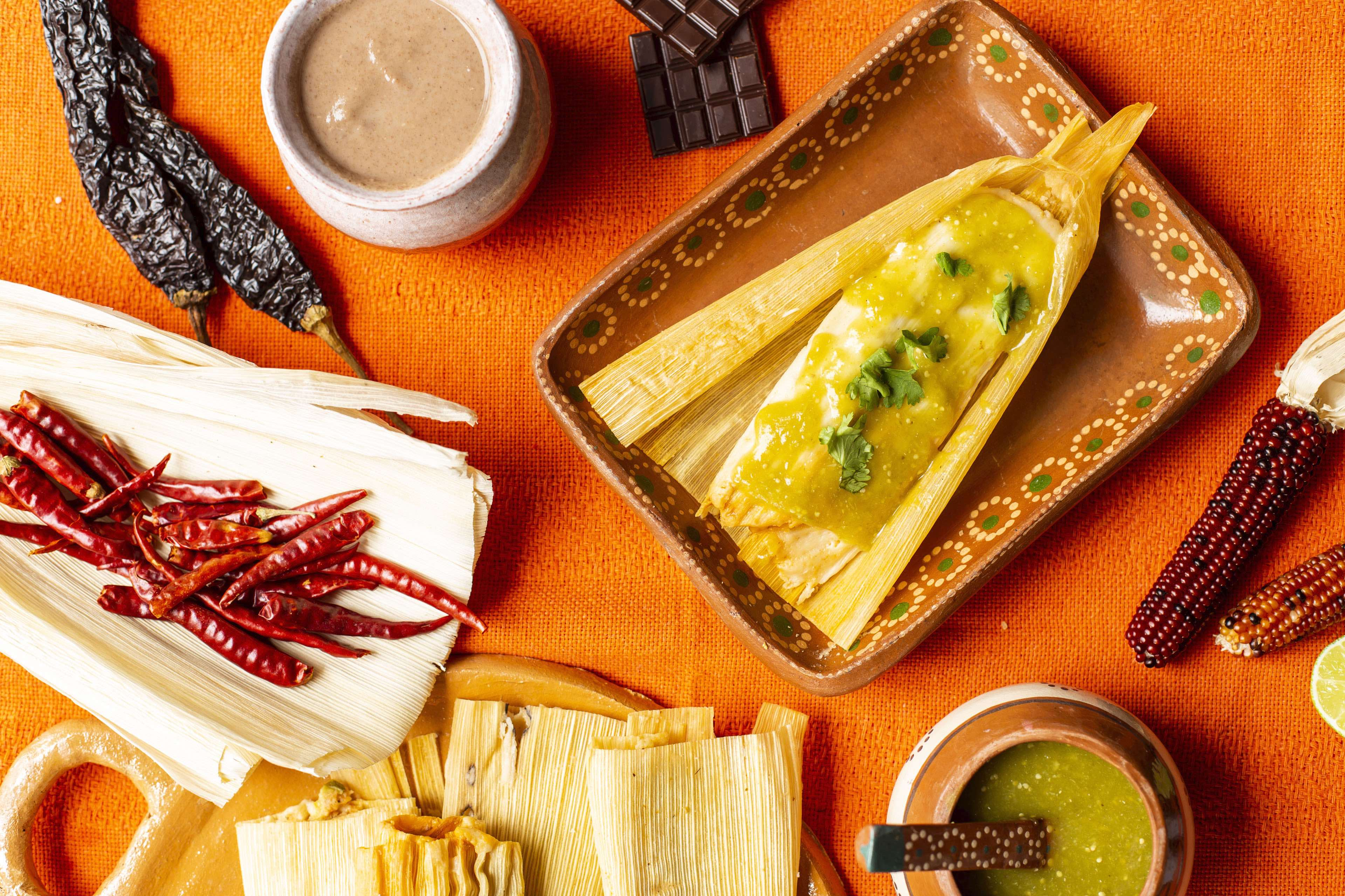Tamales and peppers from La Guerrera's Kitchen