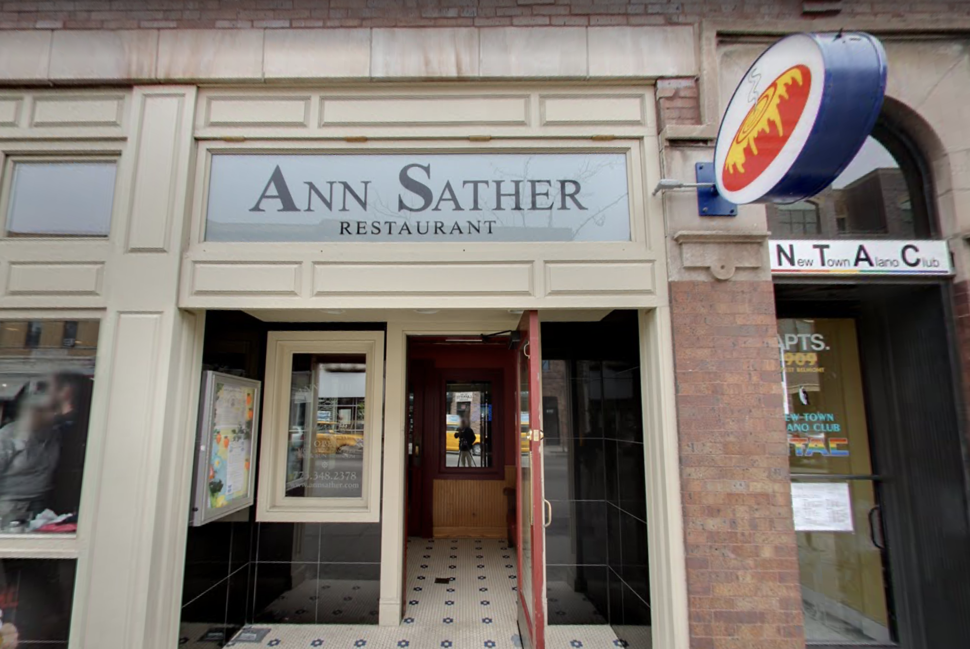 A storefront of a restaurant.
