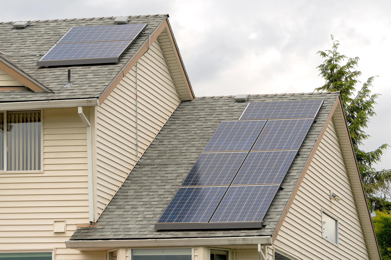 Solar panels on home.
