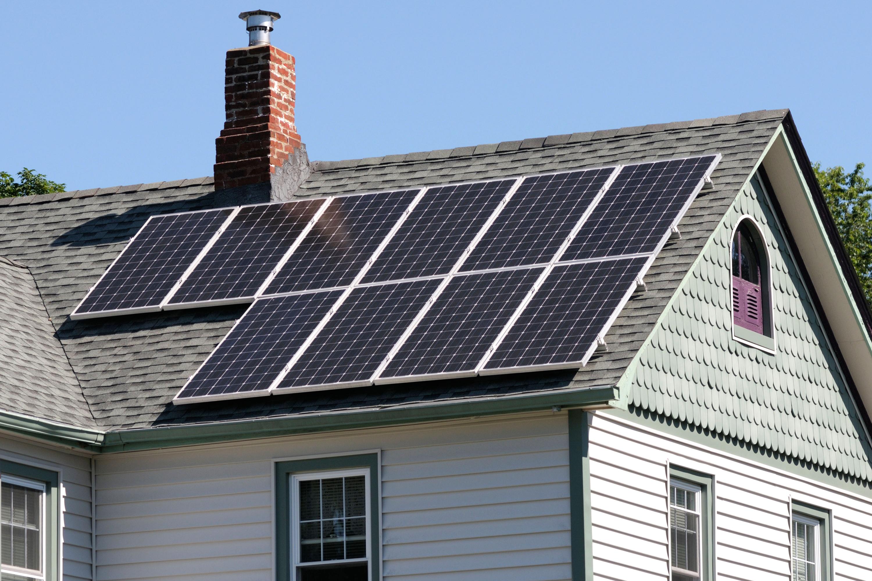 Solar panel on home.
