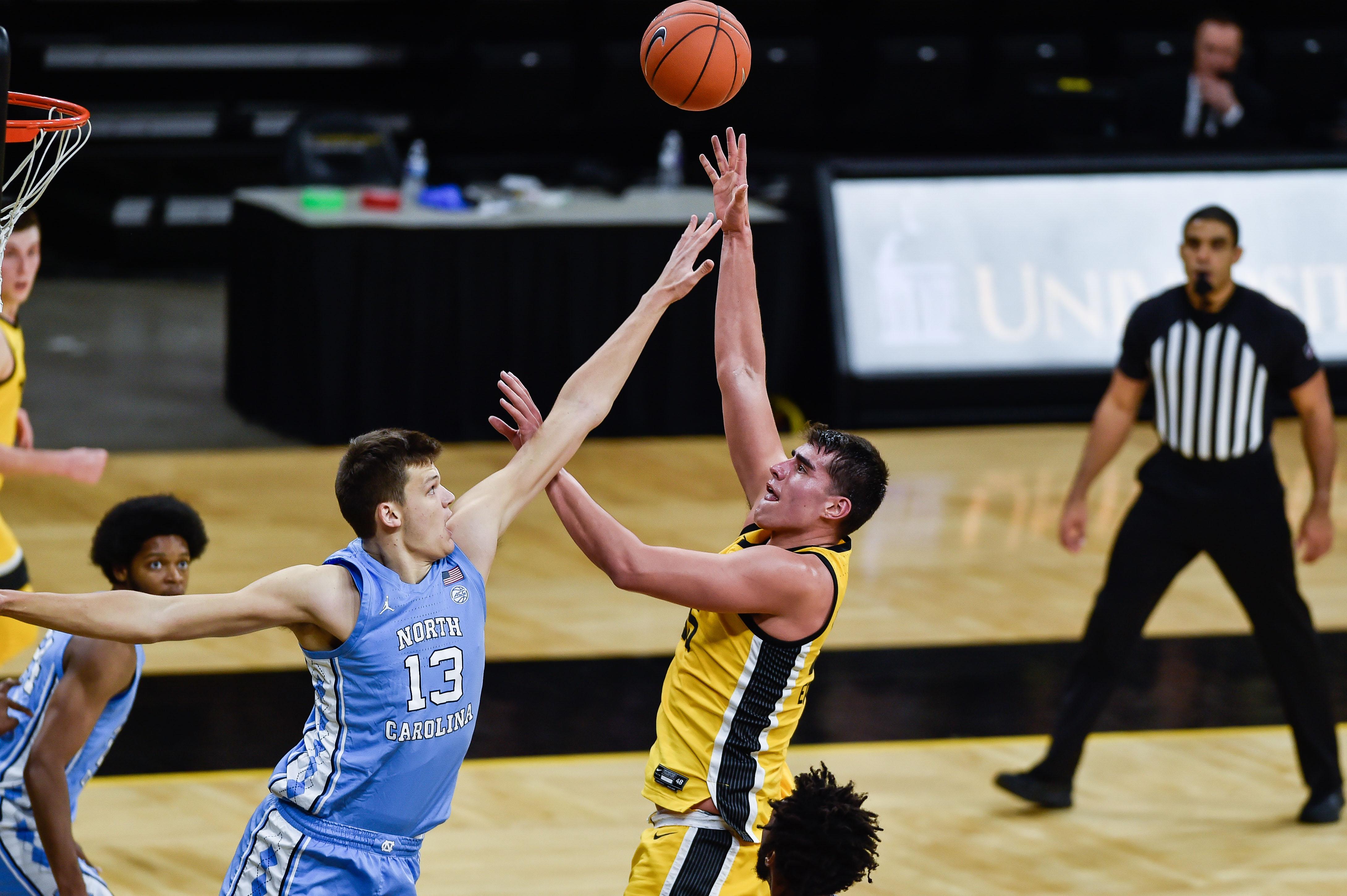 NCAA Basketball: North Carolina at Iowa
