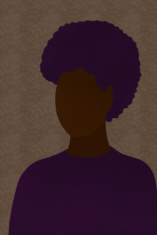 Portrait of a Black woman illustration.