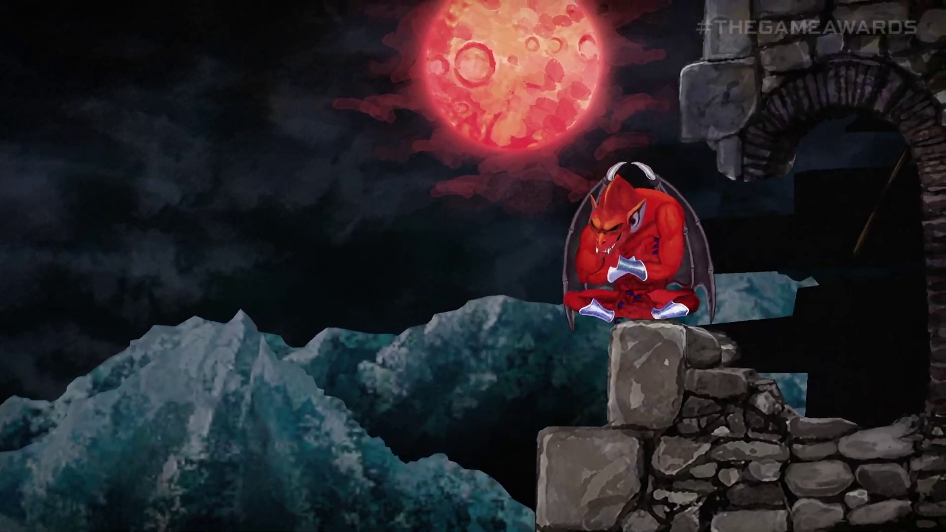 a red enemy in Ghosts 'n Goblins Resurrection