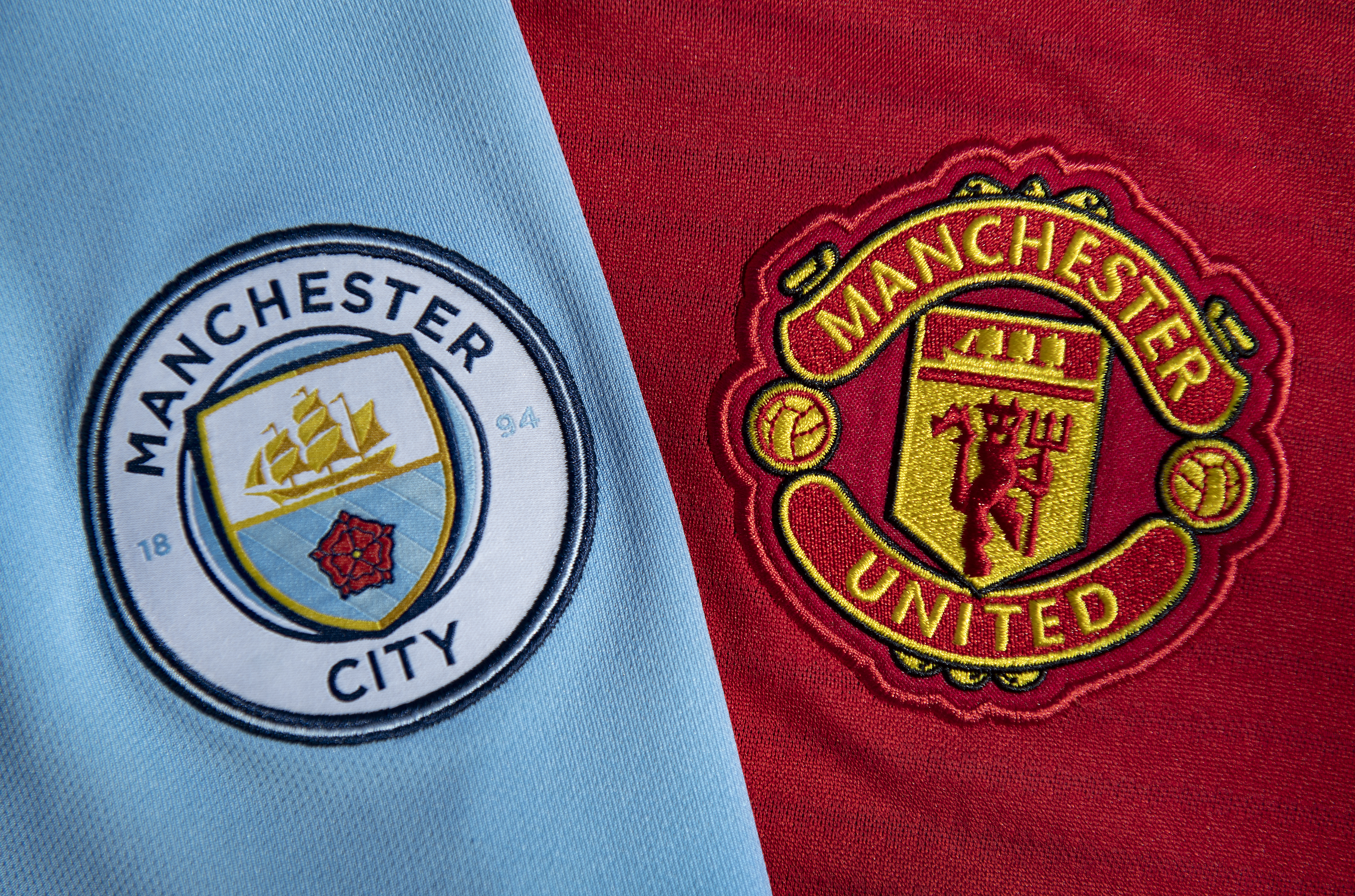 Manchester City and Manchester United Club Crests