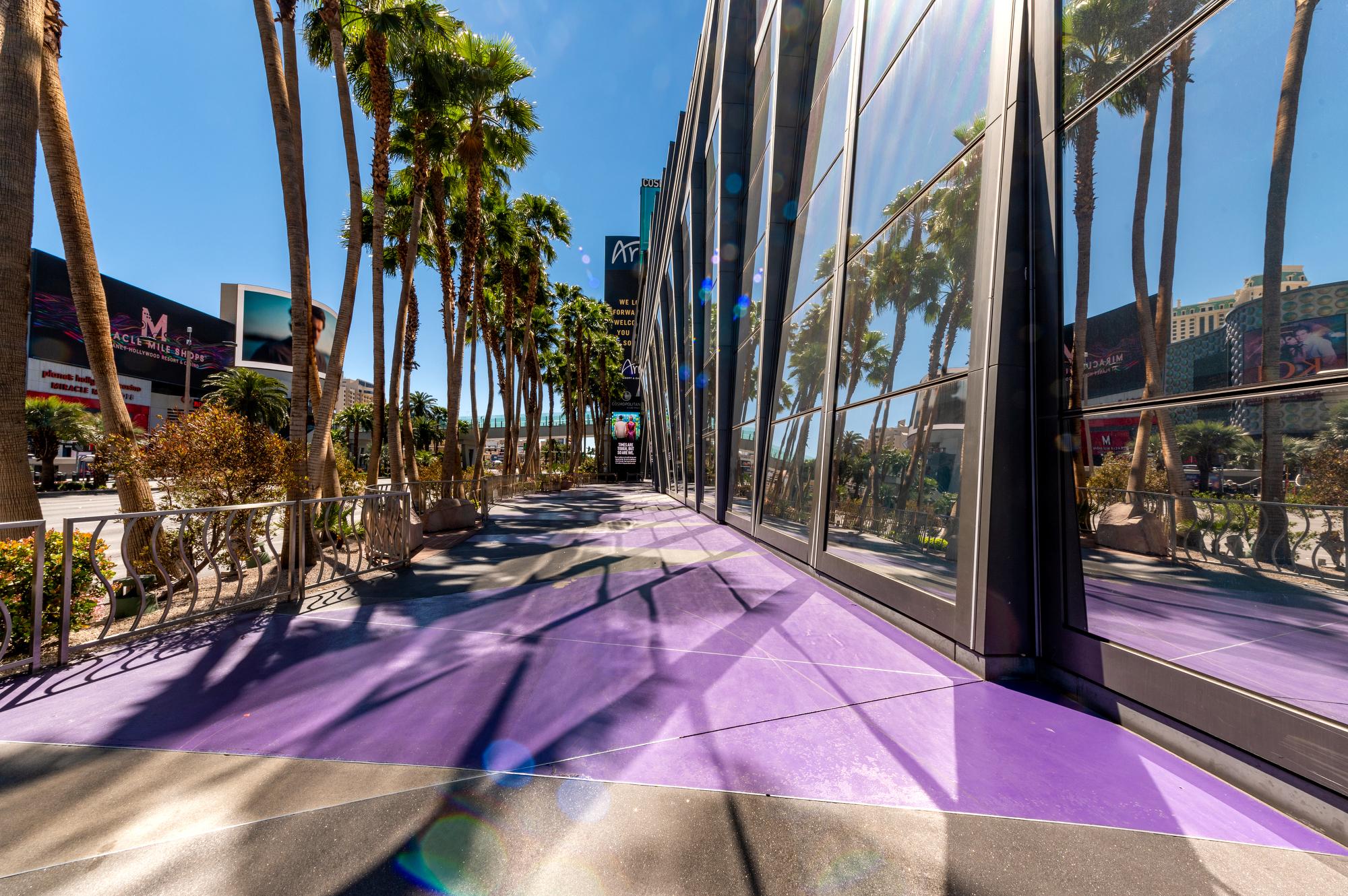 A sidewalk in Las Vegas