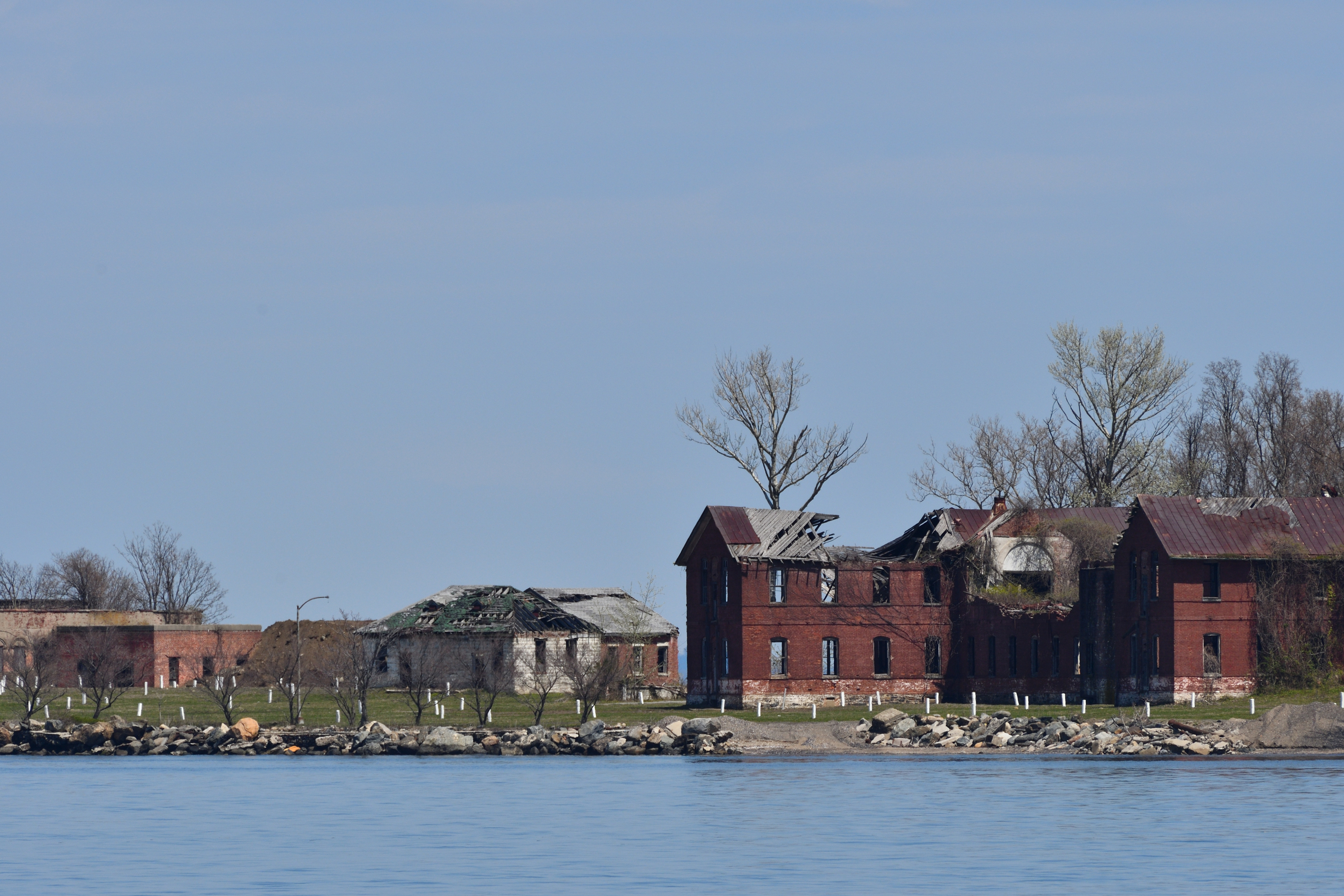 Harts Island is home to the city's massive public cemetery. April 25, 2020.