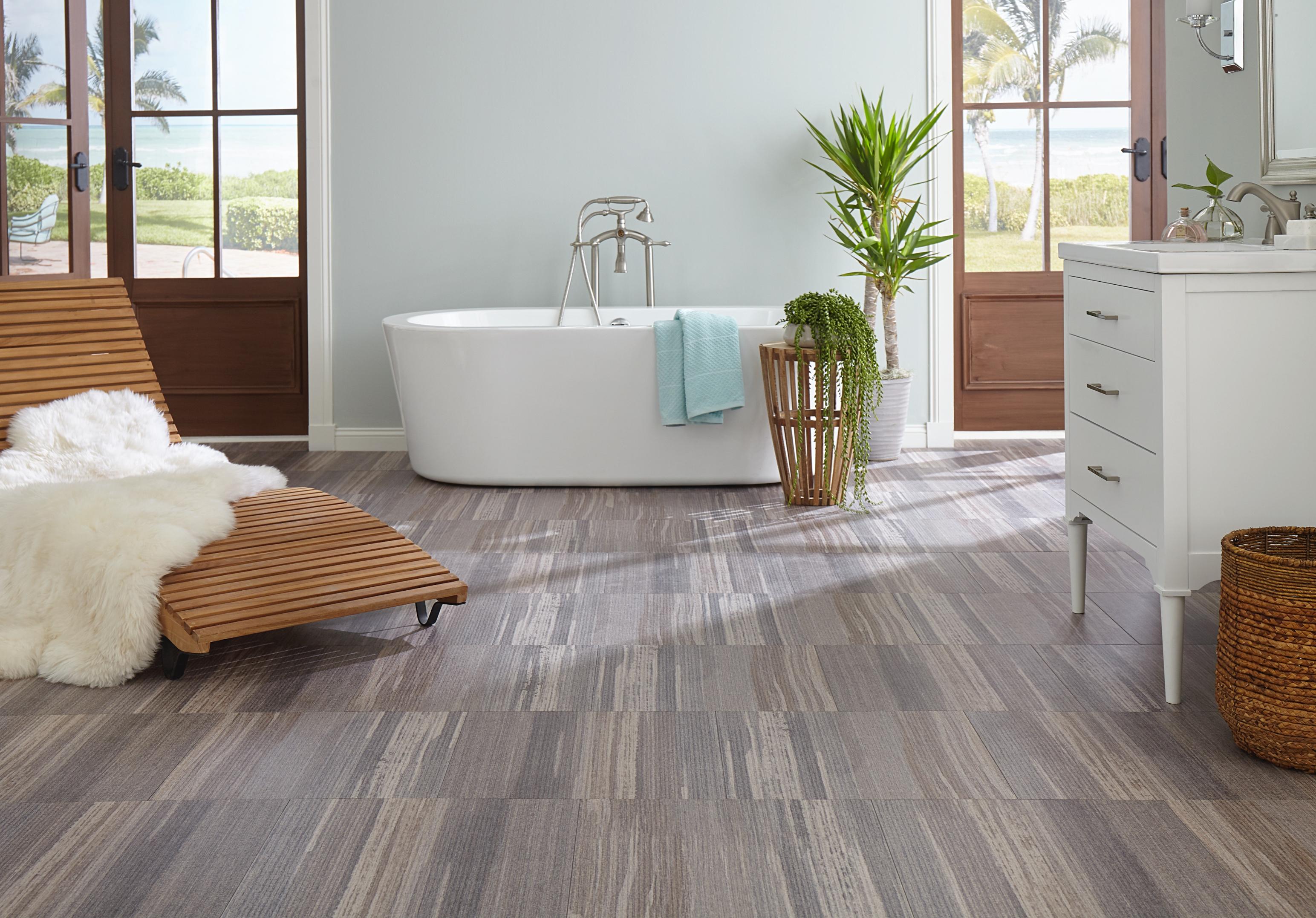 Vinyl Bathroom Floors