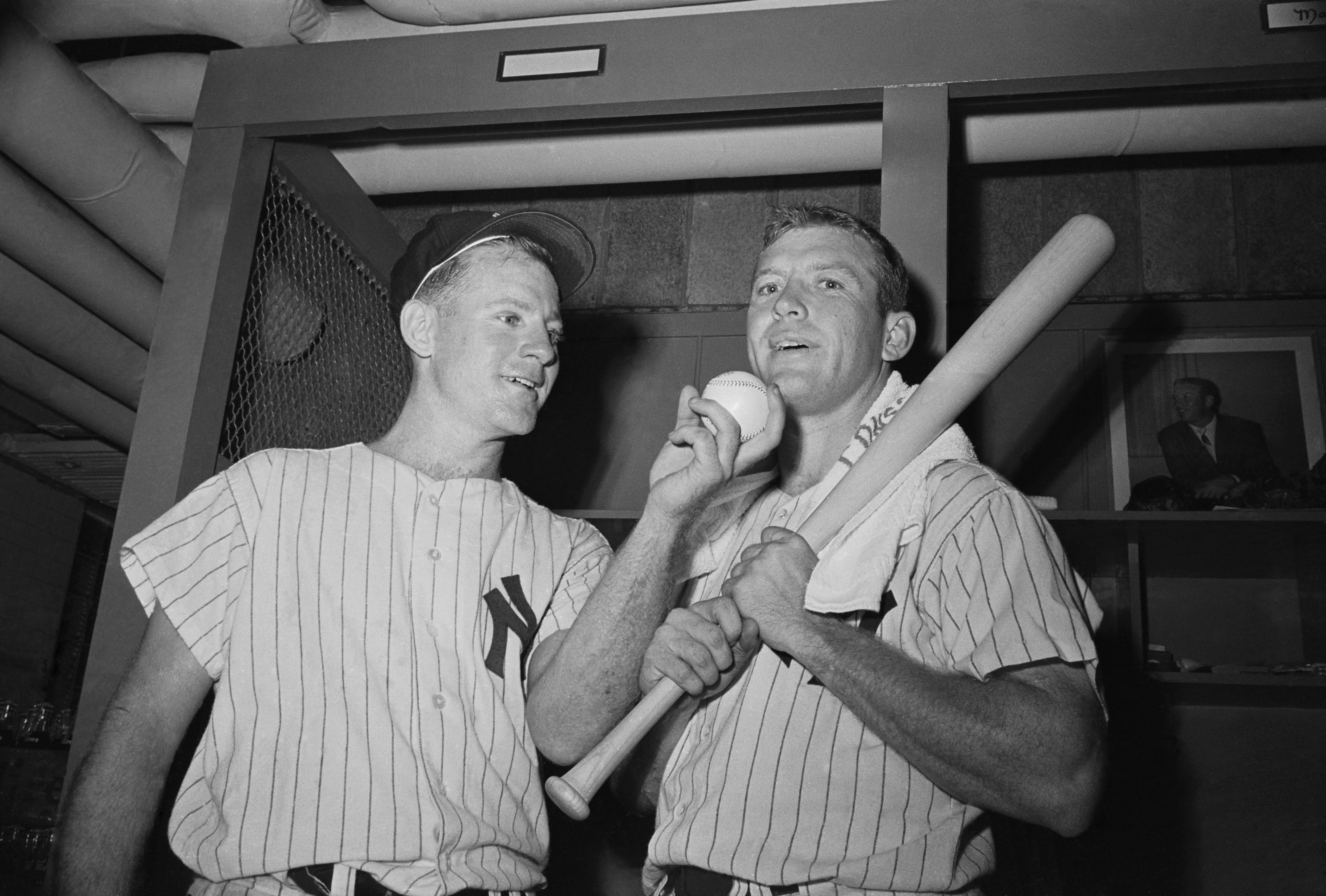 Mickey Mantle and Whitey Ford Posing Together