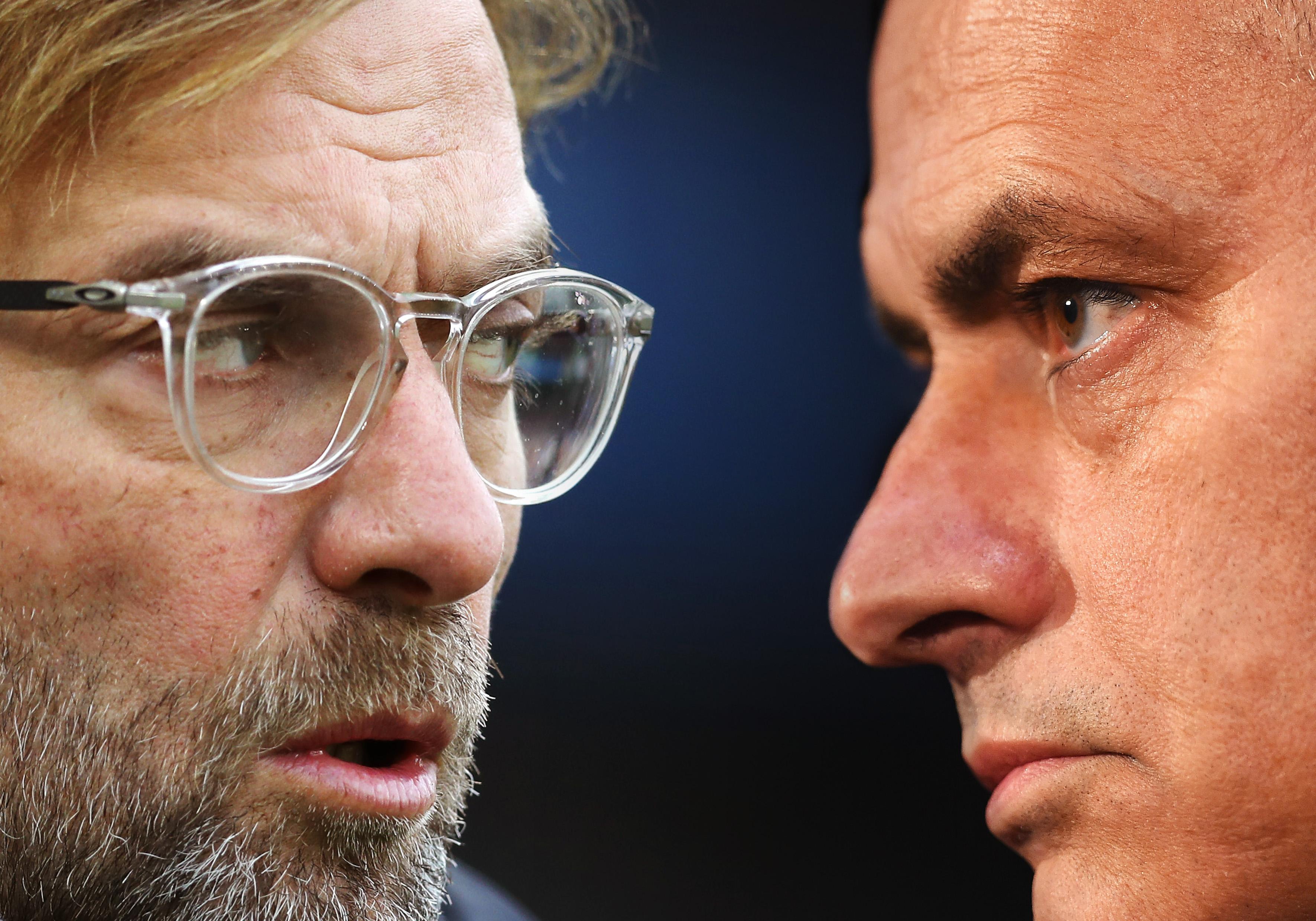 Jurgen Klopp & Jose Mourinho - Liverpool FC v Tottenham Hotspur - Premier League