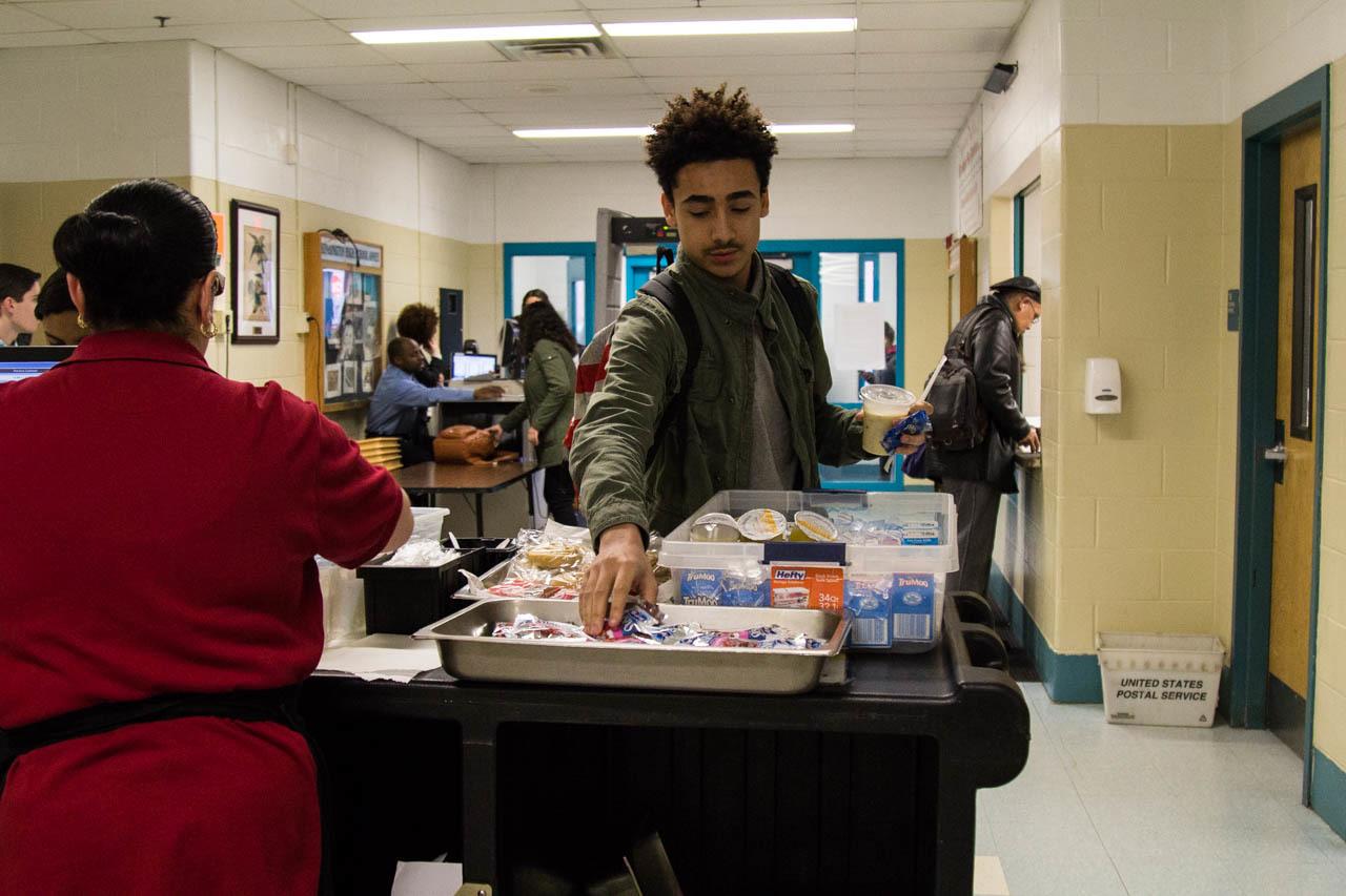 Kensington high school grab and go lunch.