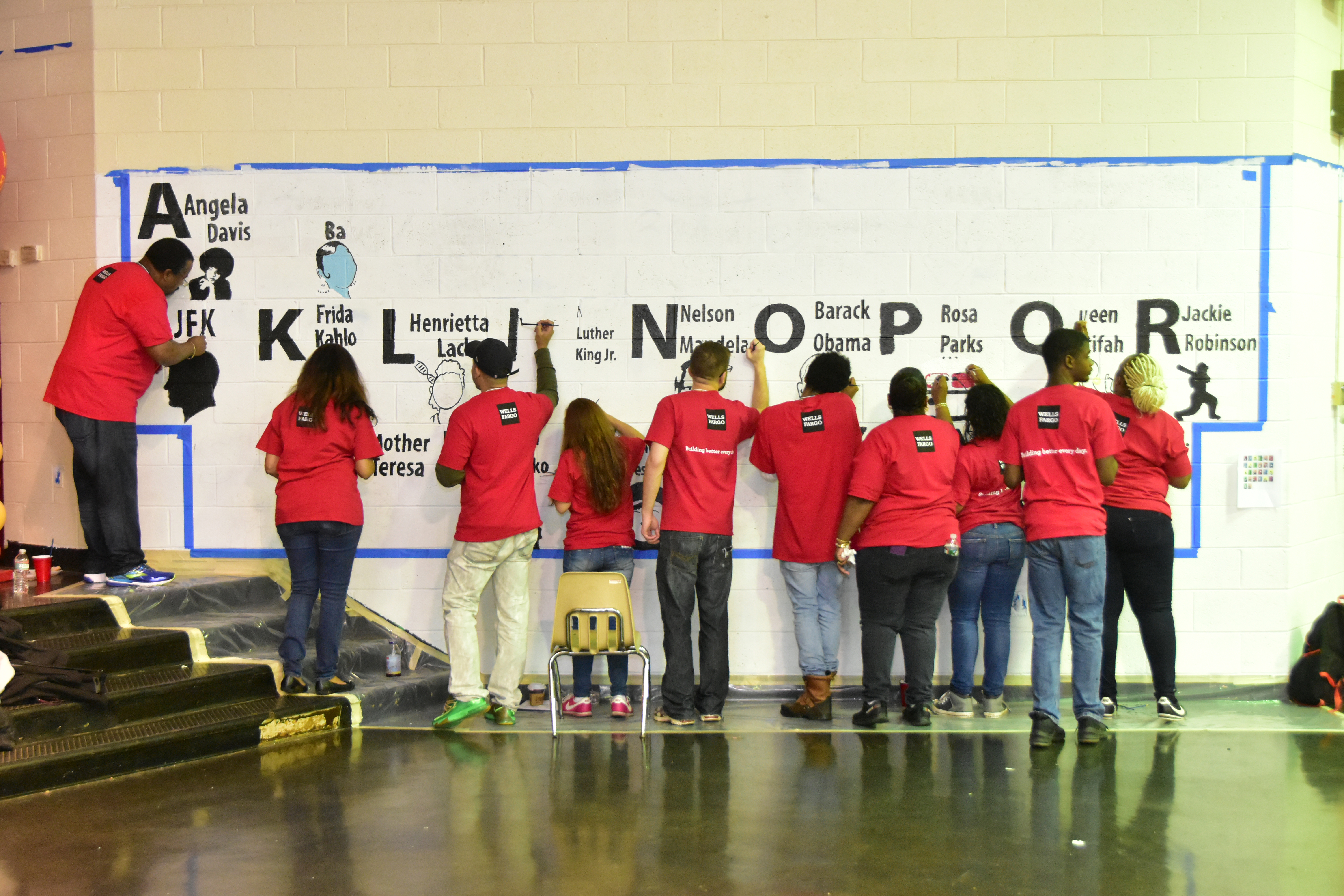 More than 325 volunteers took part in Wells Fargo's Signature Day of Service on Saturday at William Cramp Elementary.