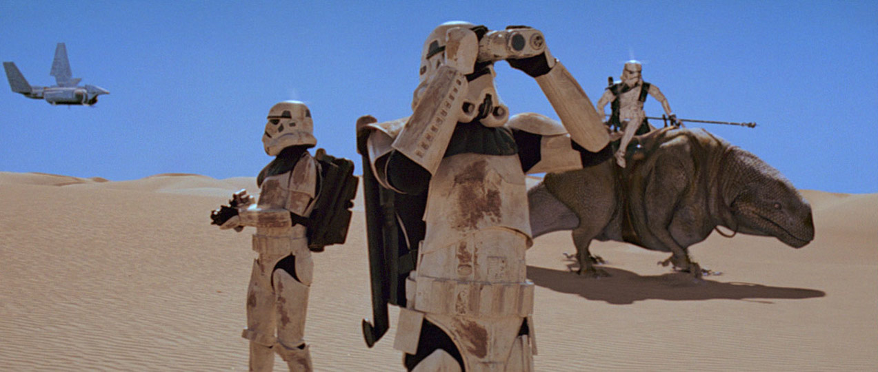 Stormtroopers searching the desert