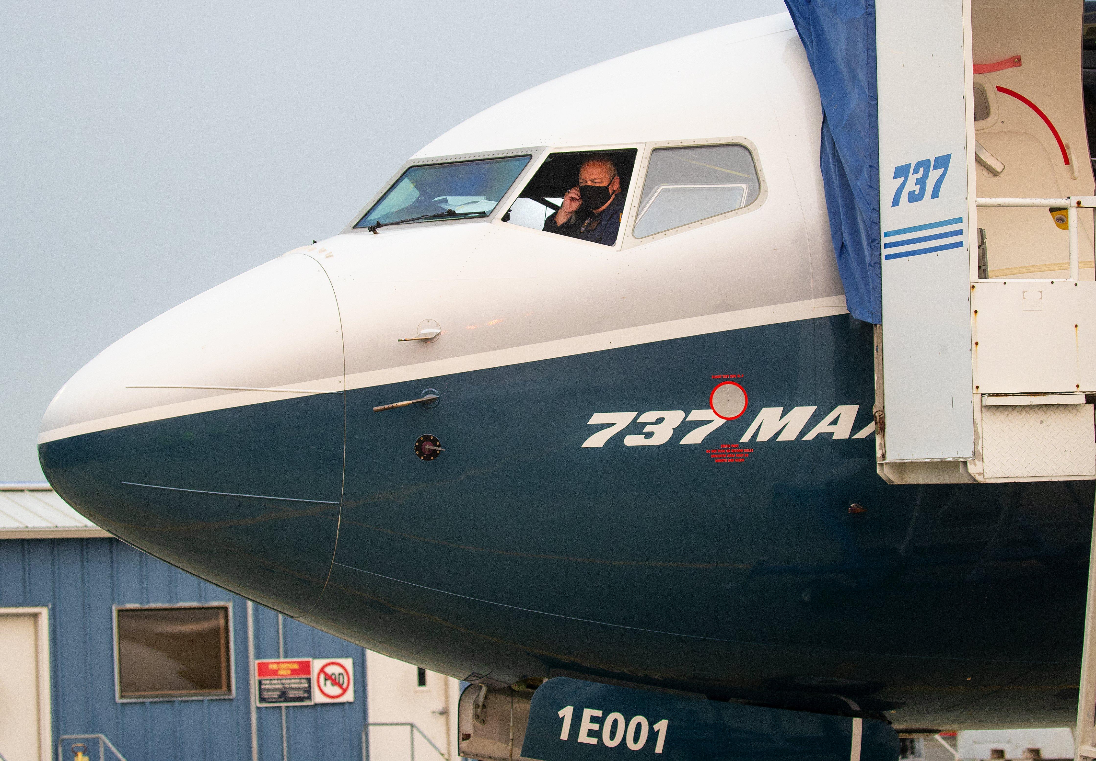 FAA Chief Steve Dickson Pilots Boeing 737 MAX Test Flight