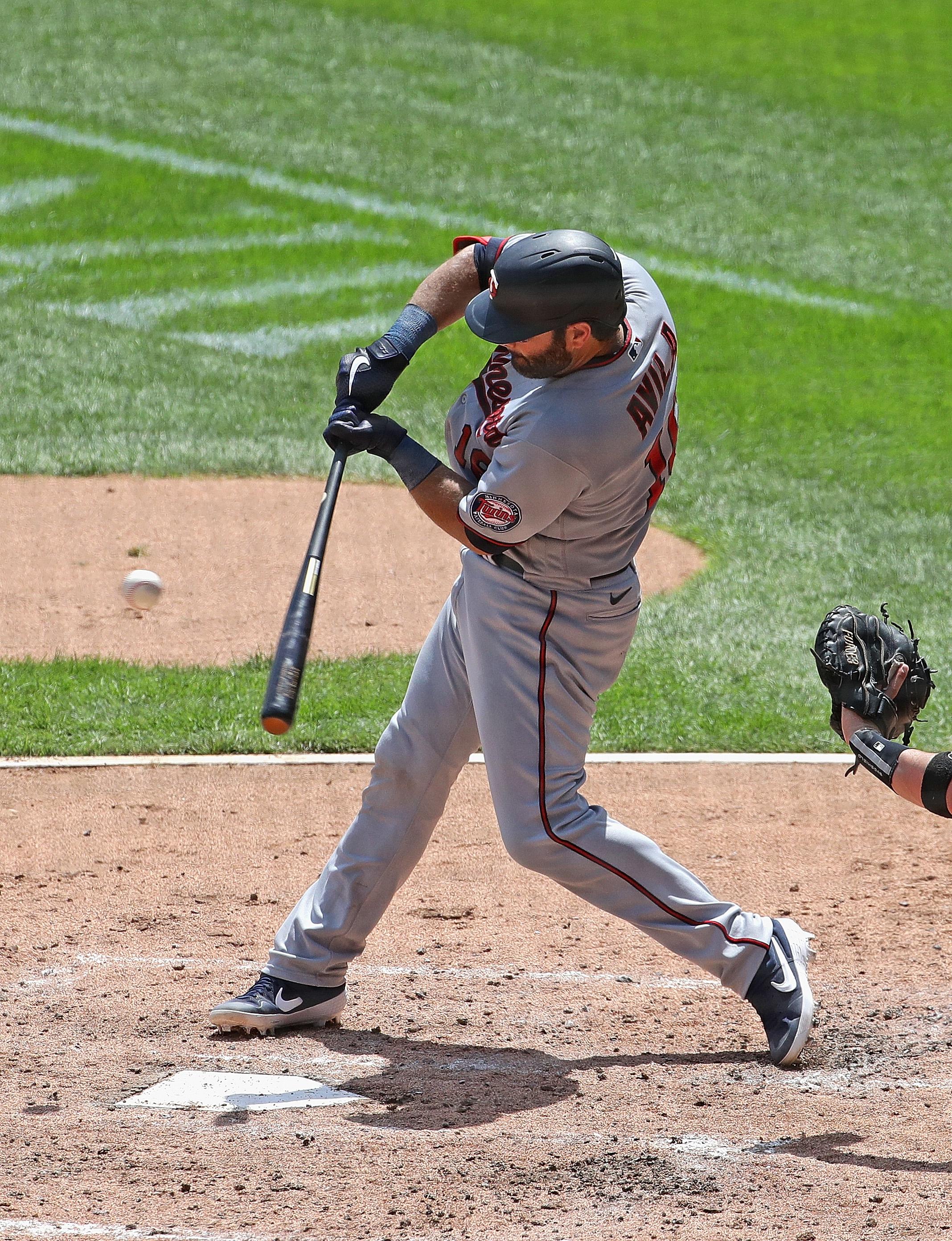 Alex Avila bats.