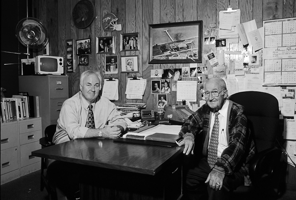 Ledo Restaurant founder Tommy Marcos Sr., right. with his Tommy Marcos Jr.