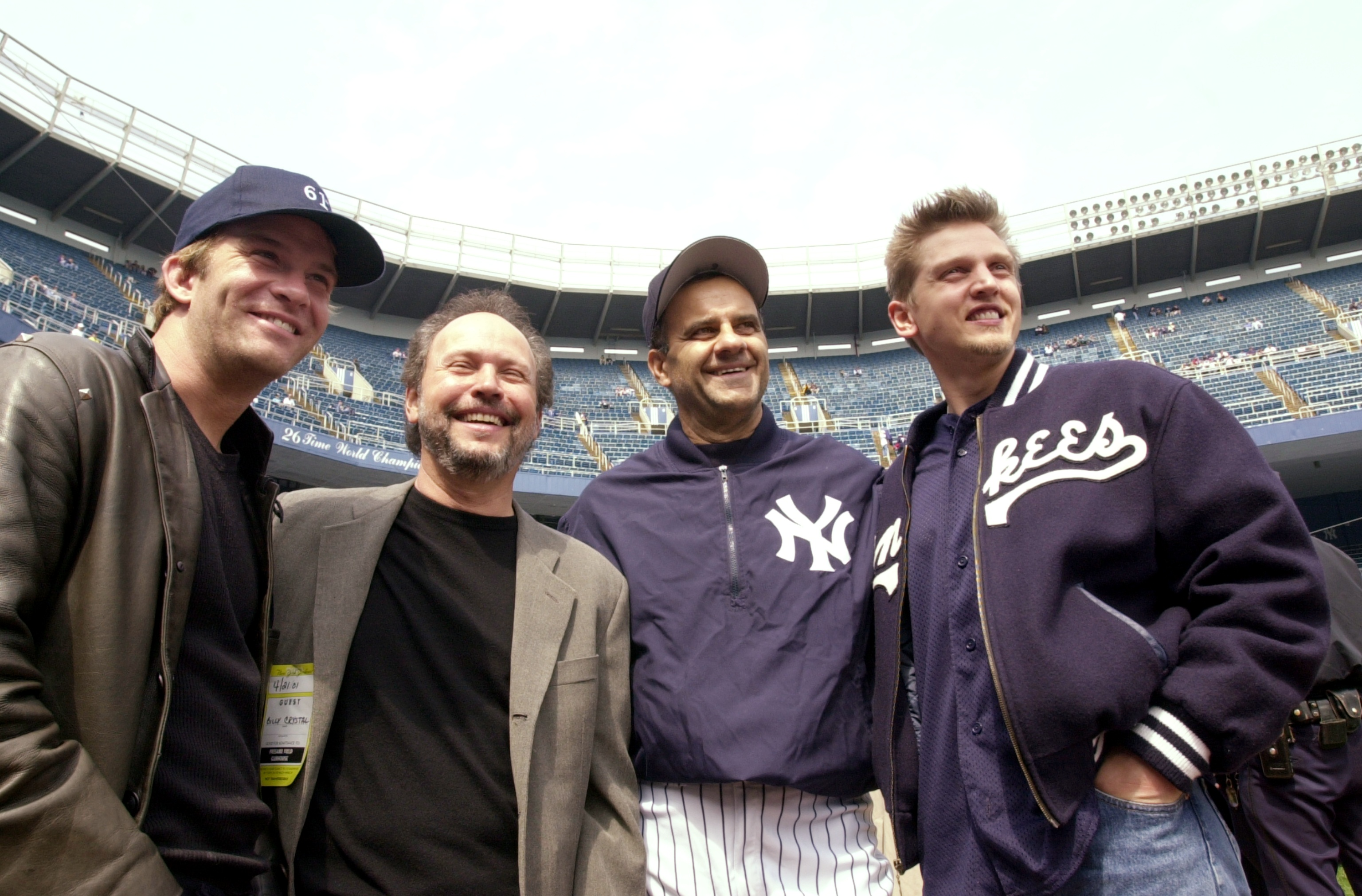 New York Yankees' manager Joe Torre is joined by (from left)