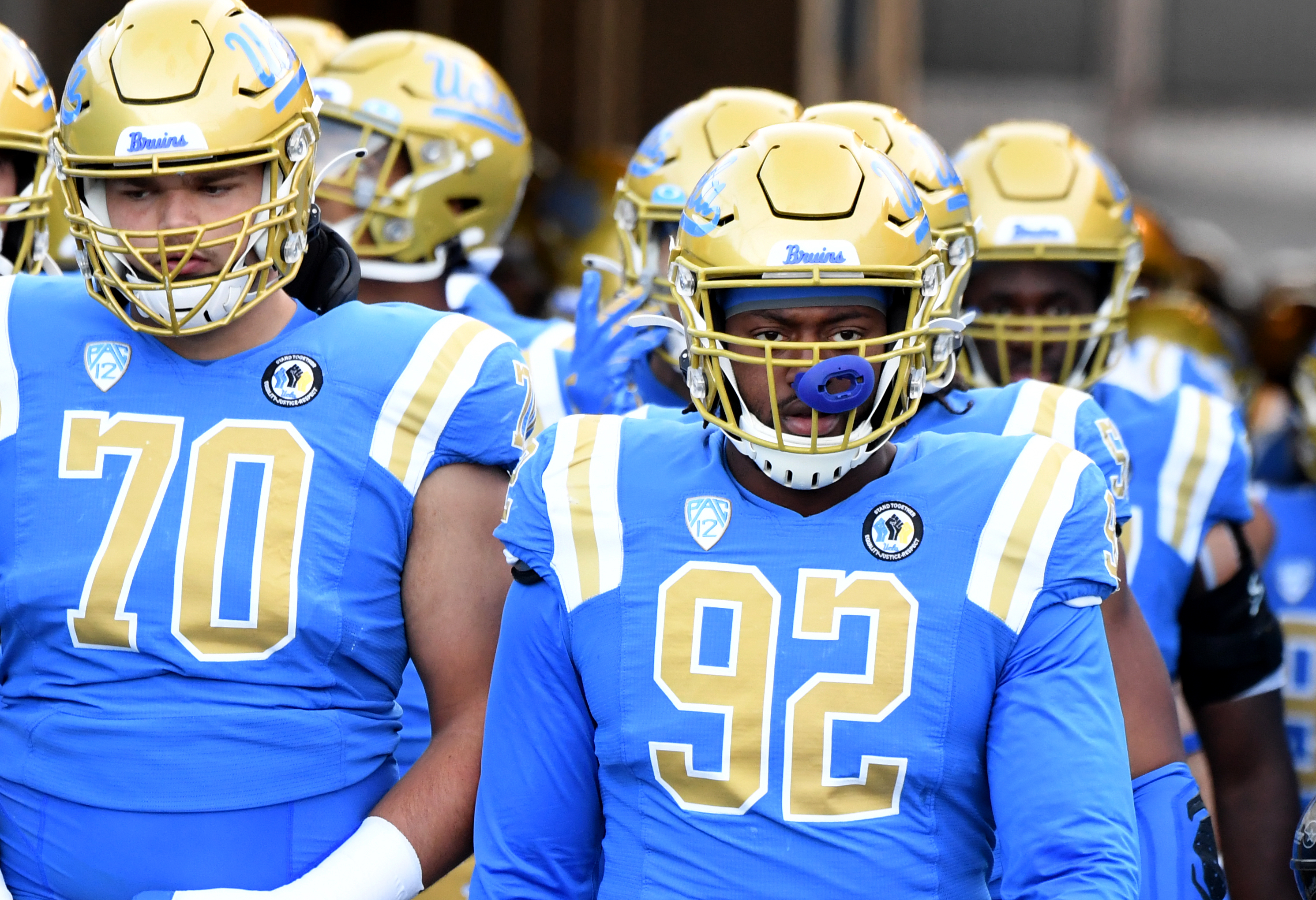 Stanford Cardinal defeated the UCLA Bruins 48-47 in overtime during a NCAA Football game at the Rose Bow.