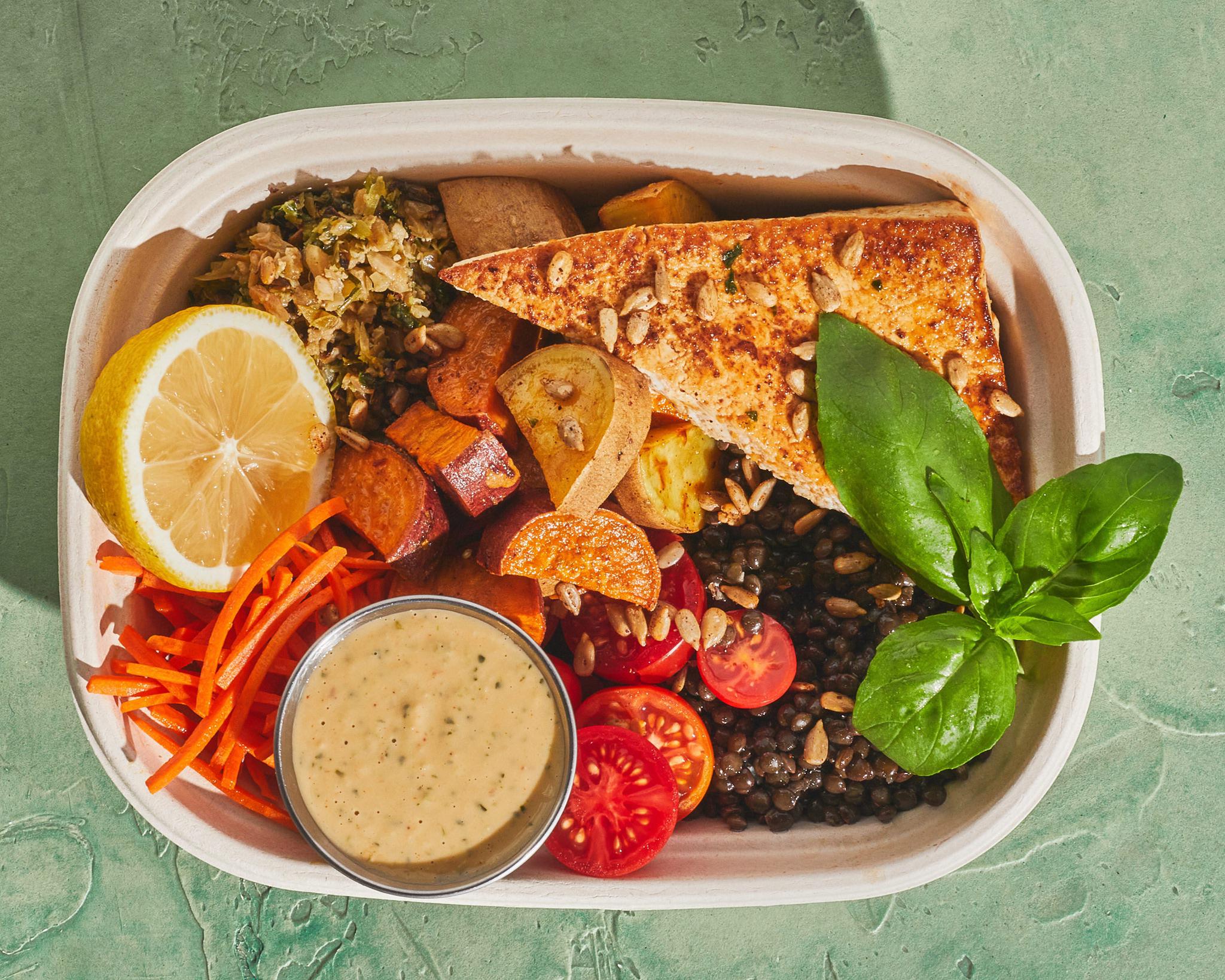 A tofu steak bowl from Sweetgreen
