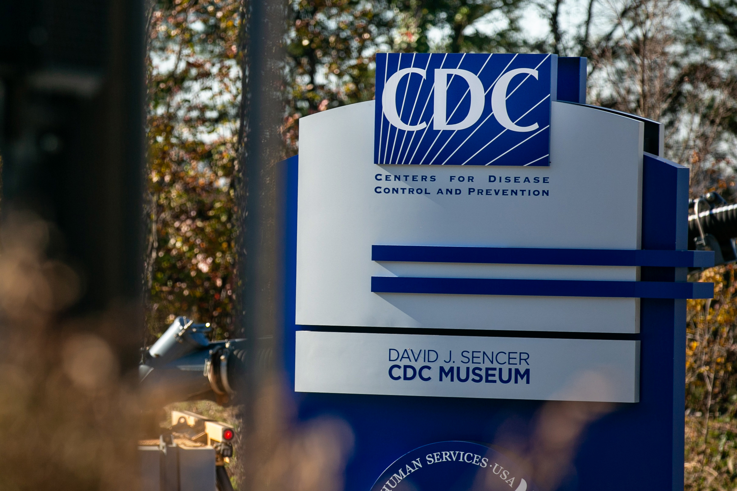 Scene setter images outside the Centers for Disease Control and Prevention in Atlanta...