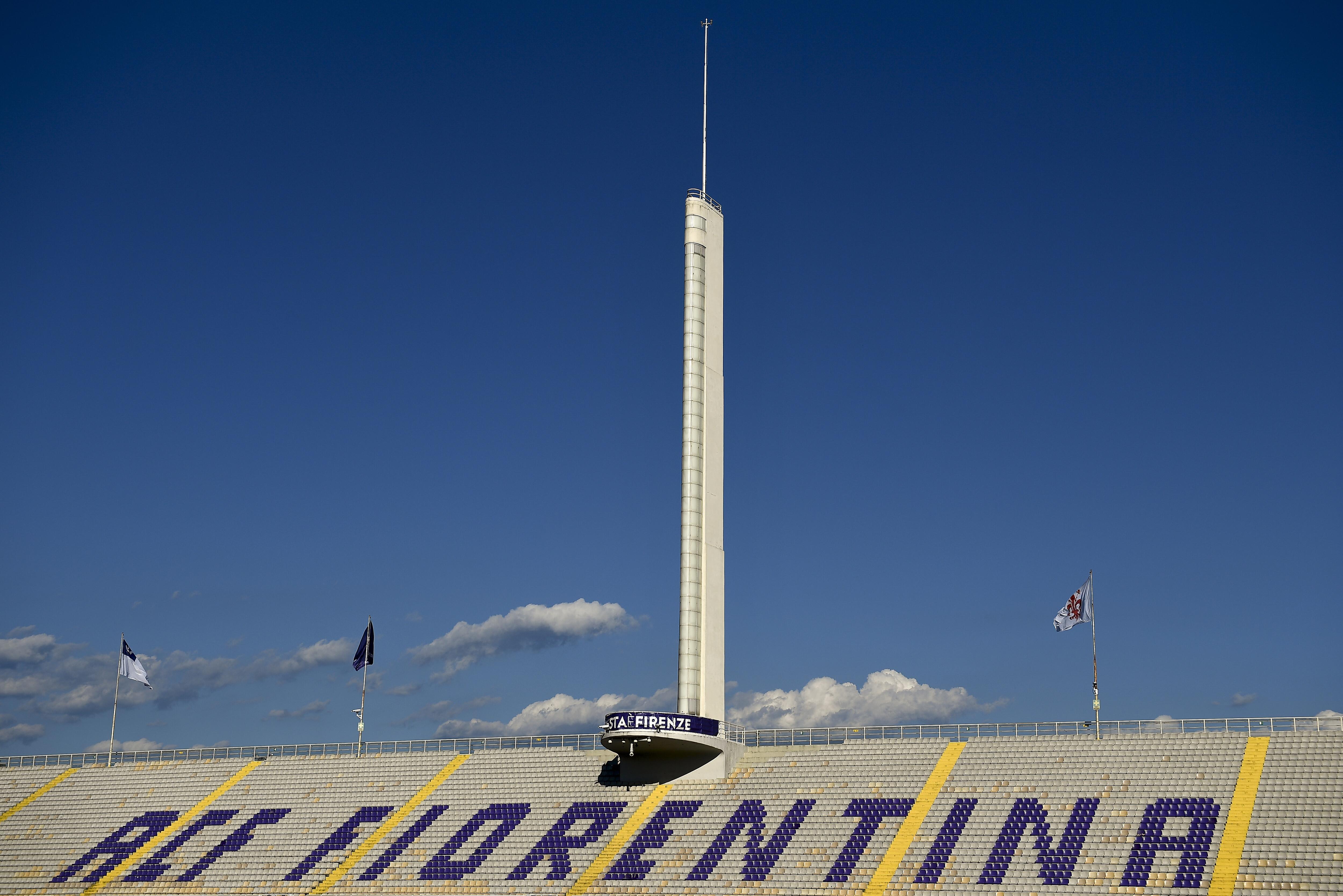 General view shows empty stadio Artemio Franchi prior to the...