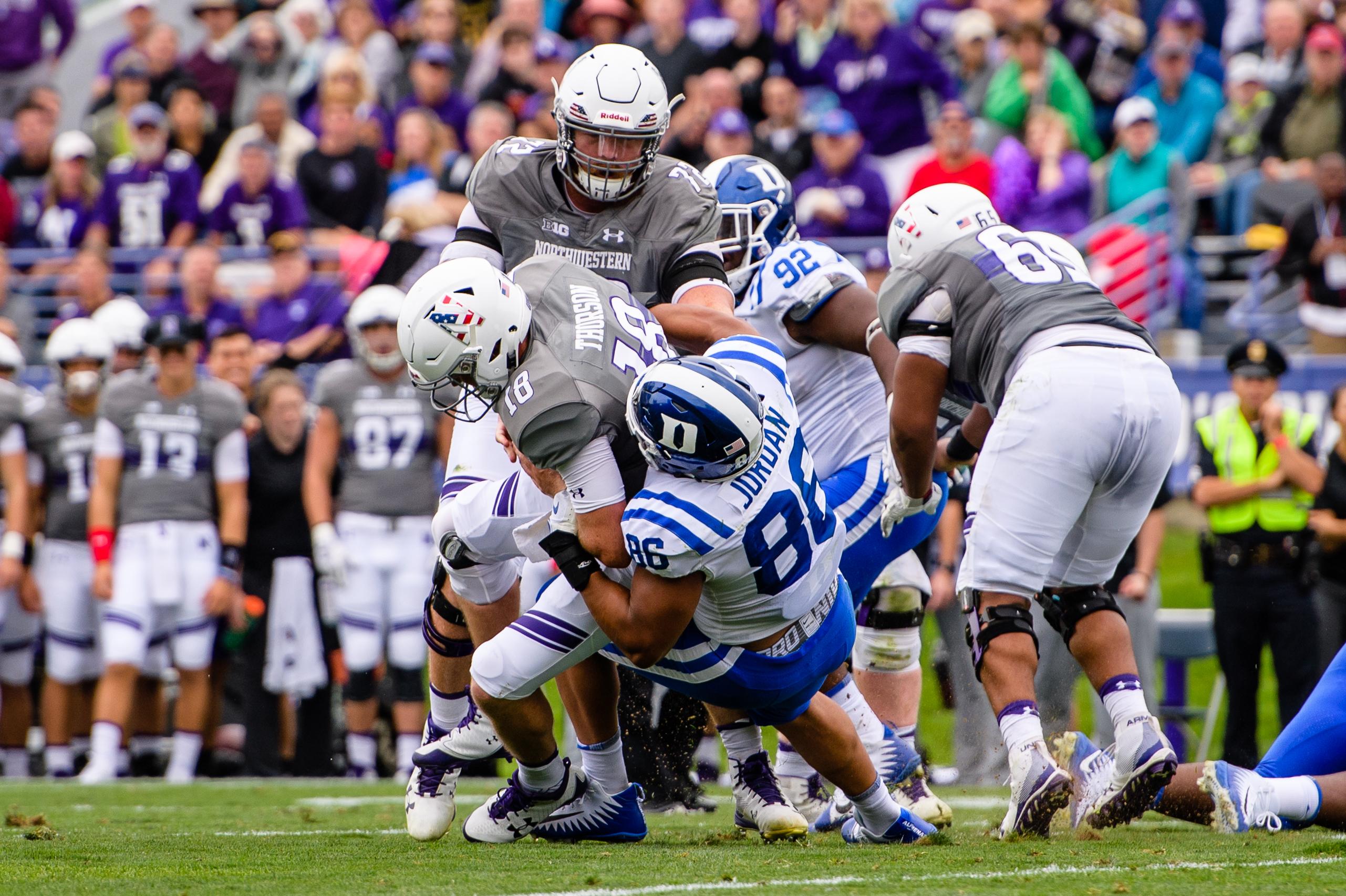 COLLEGE FOOTBALL: SEP 08 Duke at Northwestern