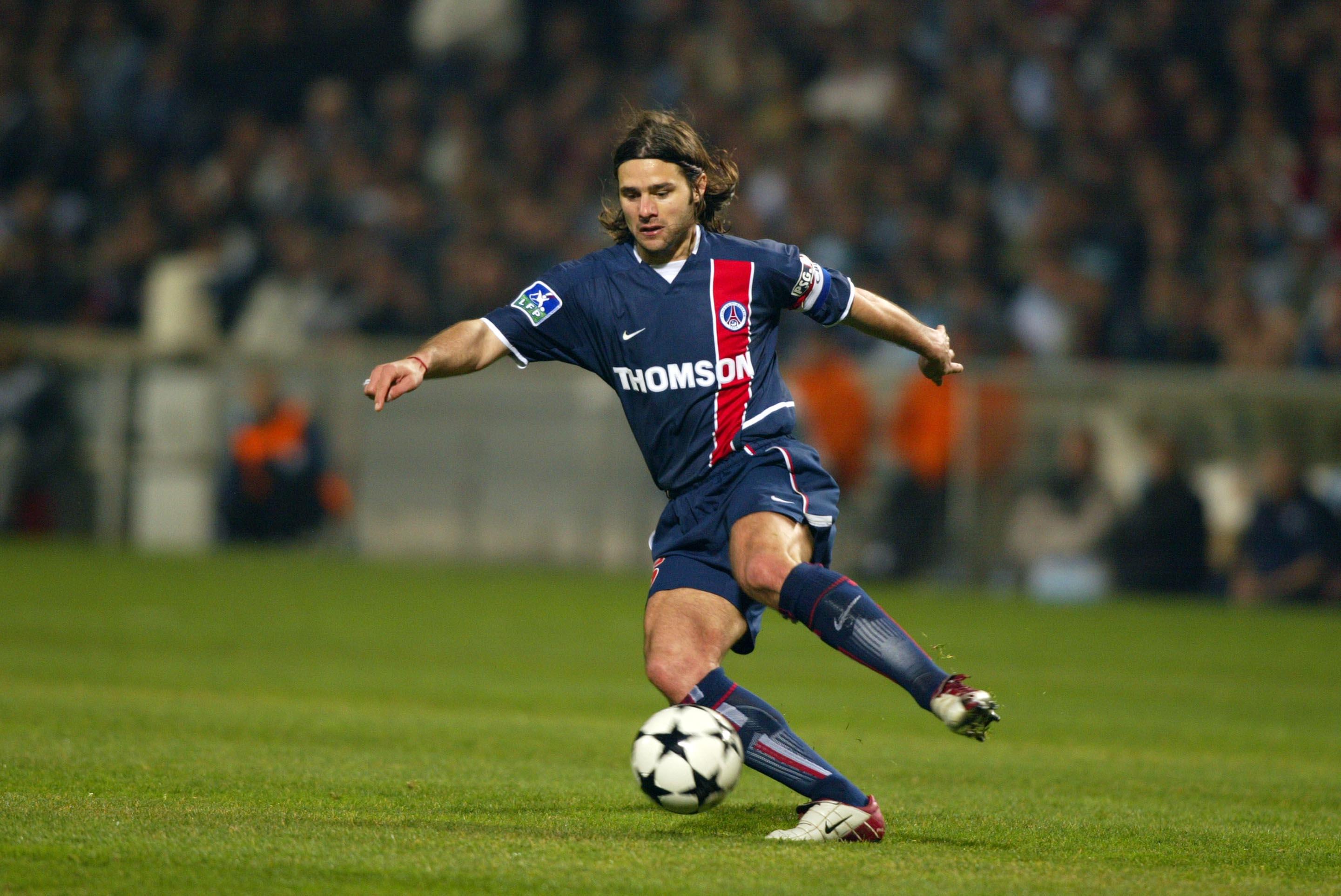 Mauricio POCHETTINO - 09.03.2003 - Marseille / PSG - 30eme journee de Ligue 1 - Stade Velodrome - Marseille -