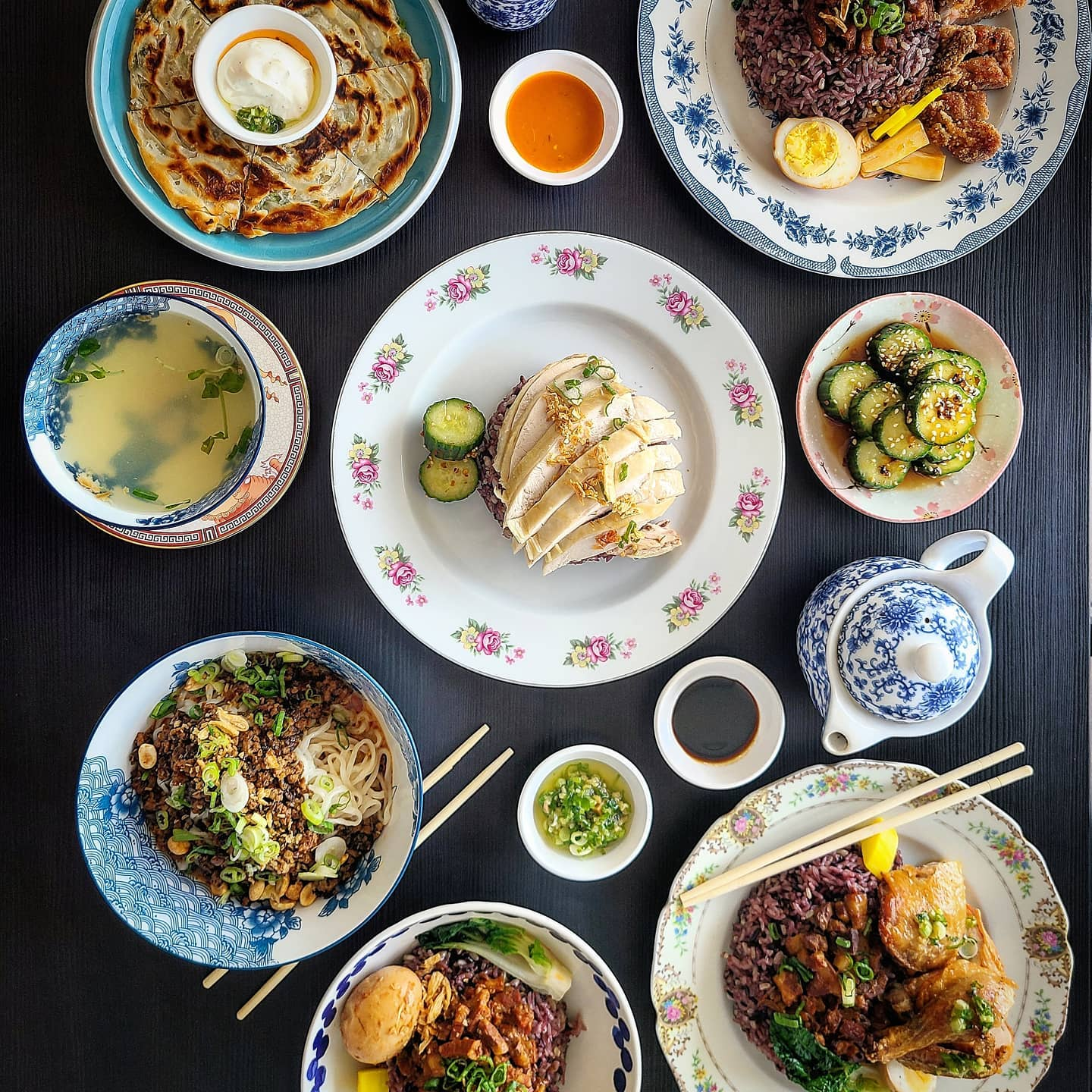 An array of Taiwanese dishes