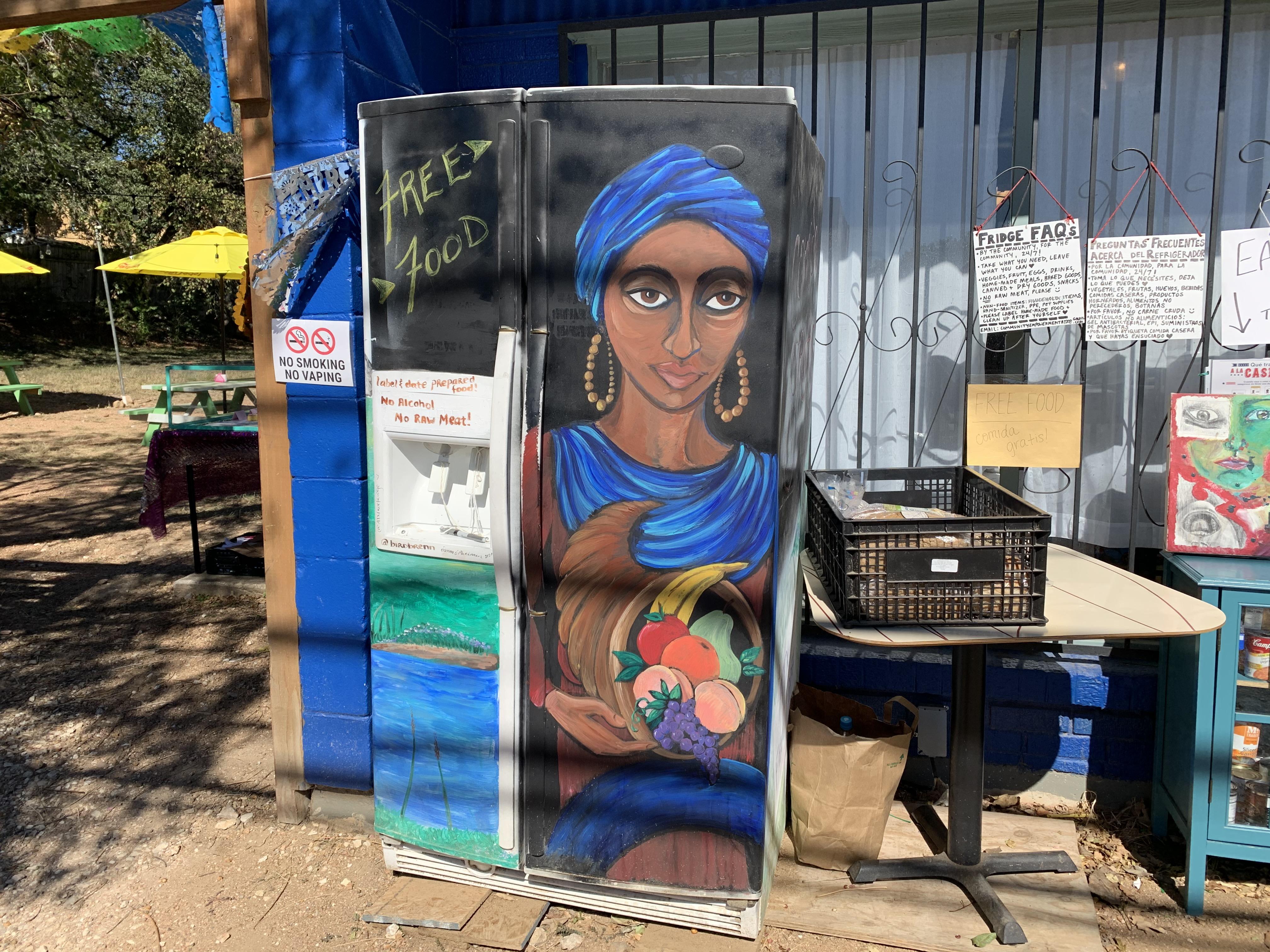 The community fridge at Nixta