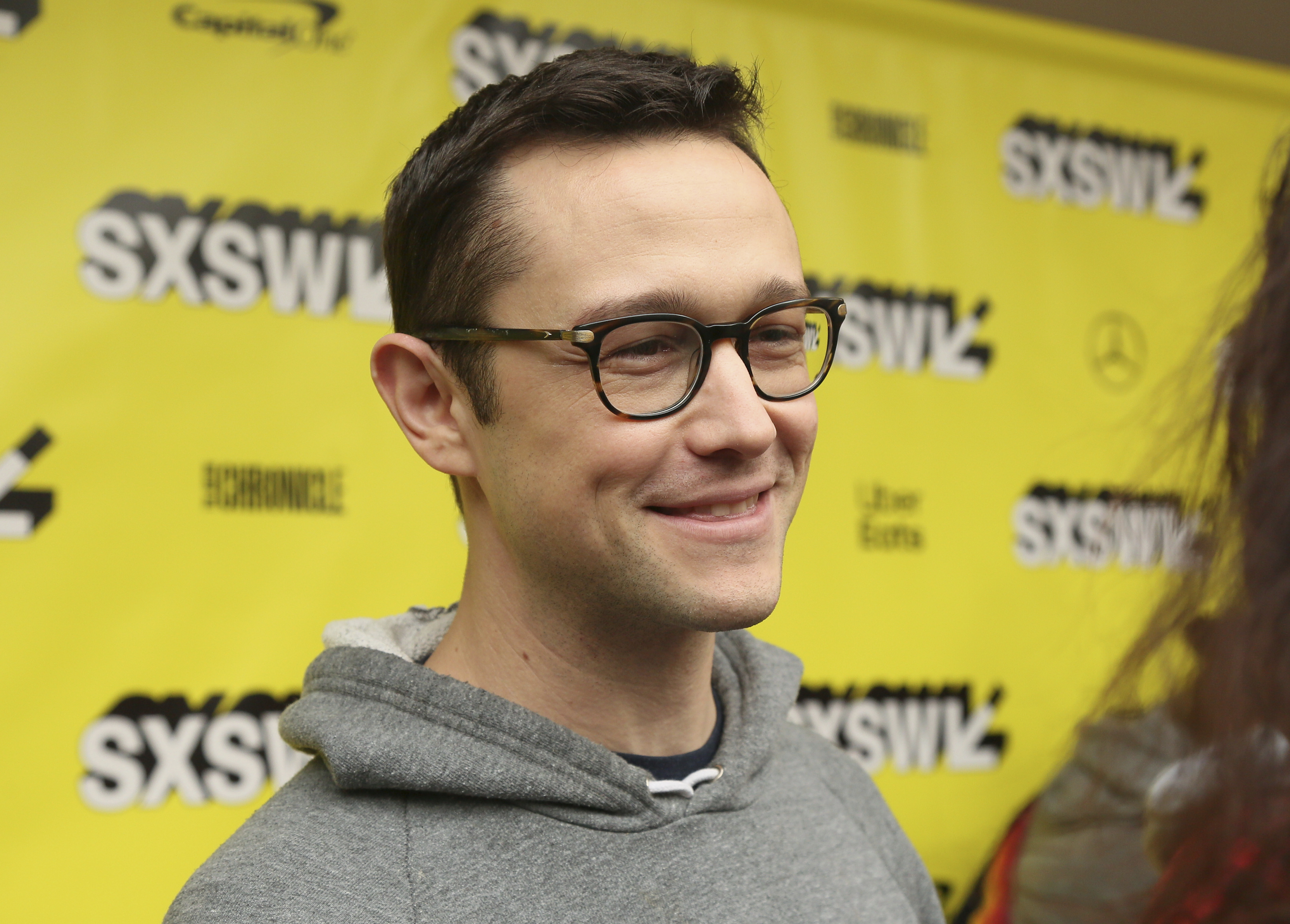 """Joseph Gordon-Levitt arrives for the world premiere of """"Band Together with Logic"""" at the Paramount Theatre during the South by Southwest Film Festival on Friday, March 15, 2019, in Austin, Texas."""
