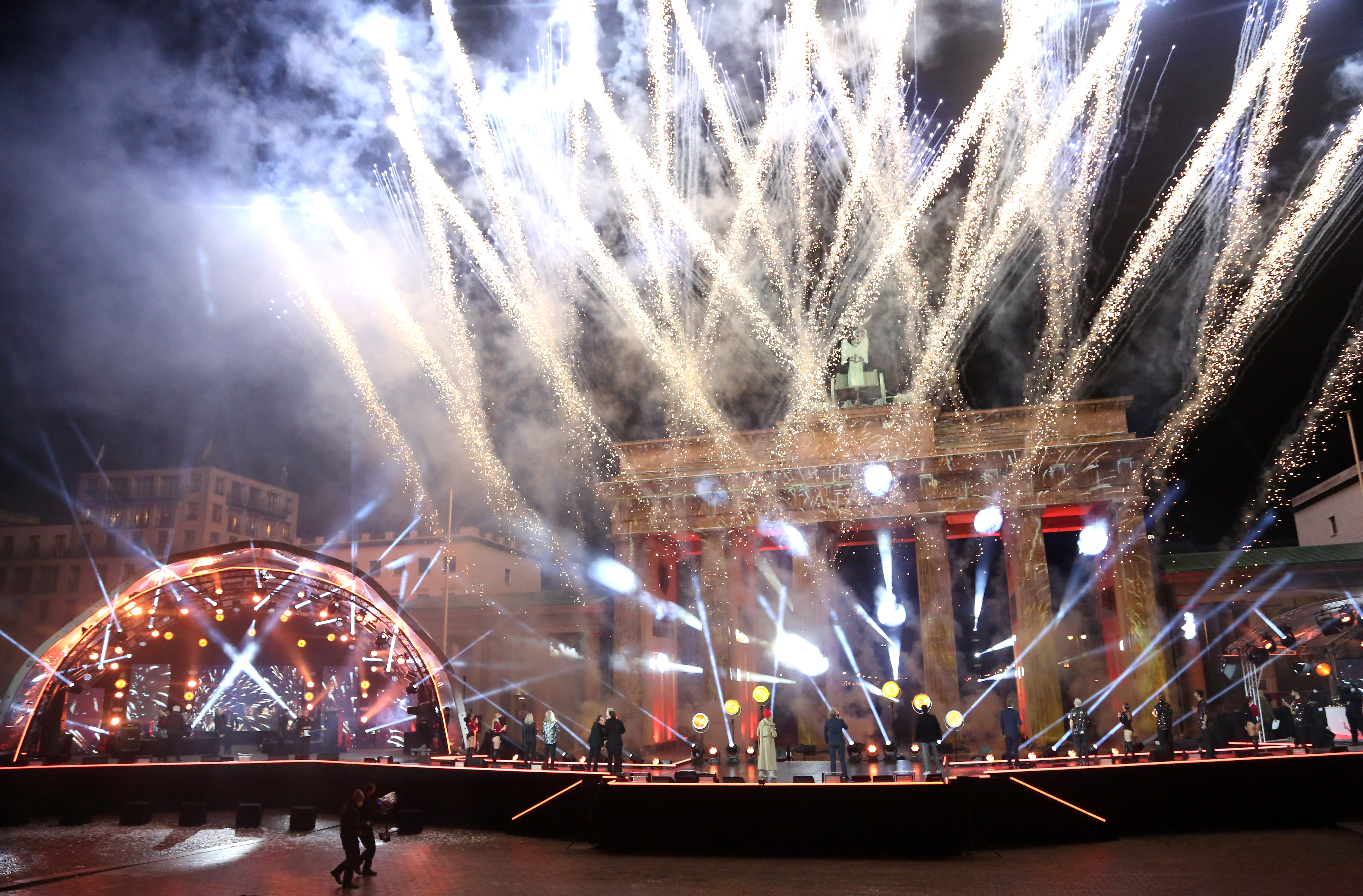 """""""Willkommen 2021"""" New Year's Eve Live Show At Brandenburg Gate"""
