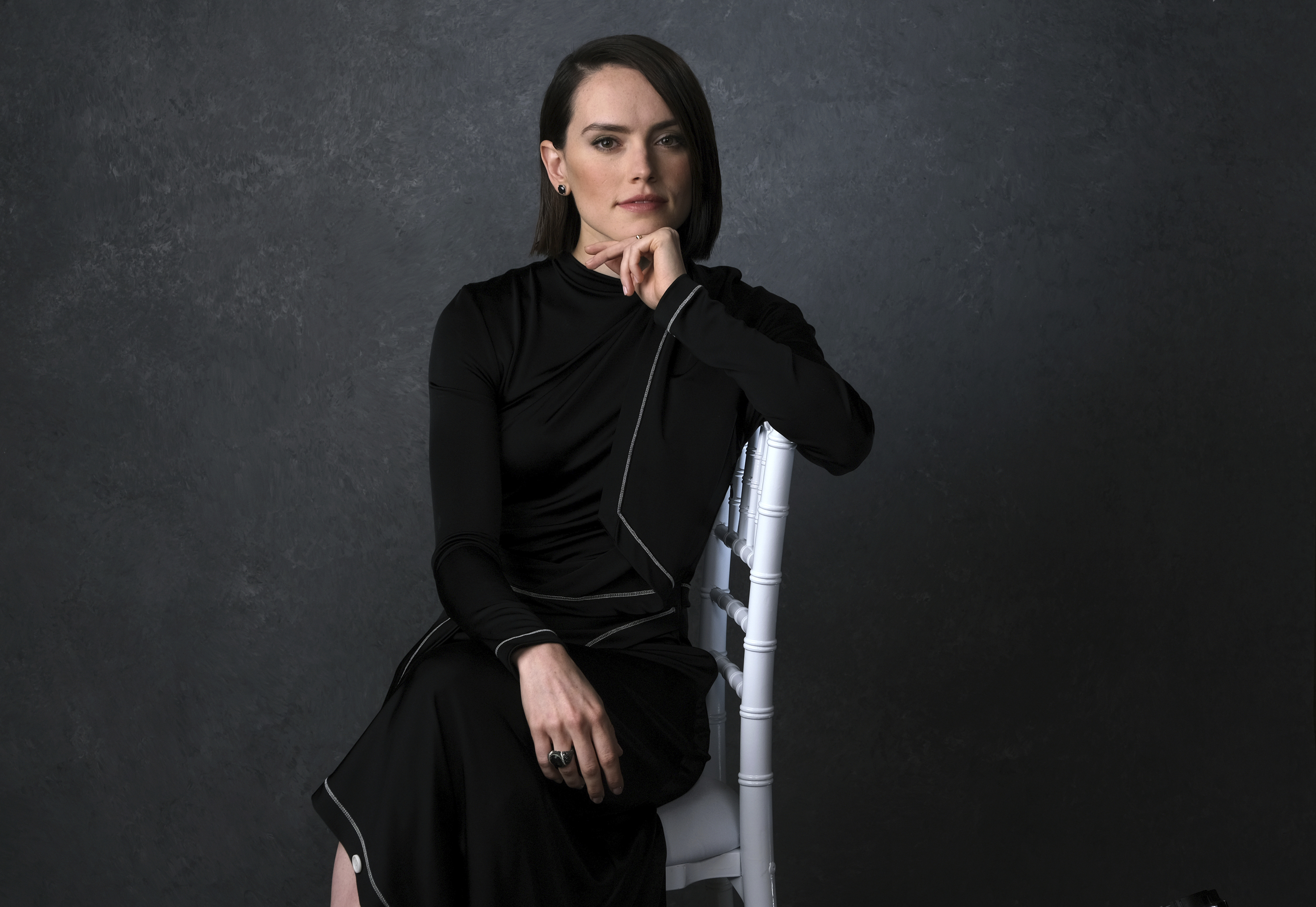 """Daisy Ridley poses for a portrait to promote the film """"Star Wars: The Rise of Skywalker"""" on Tuesday. Dec. 3, 2019, in Pasadena, Calif."""