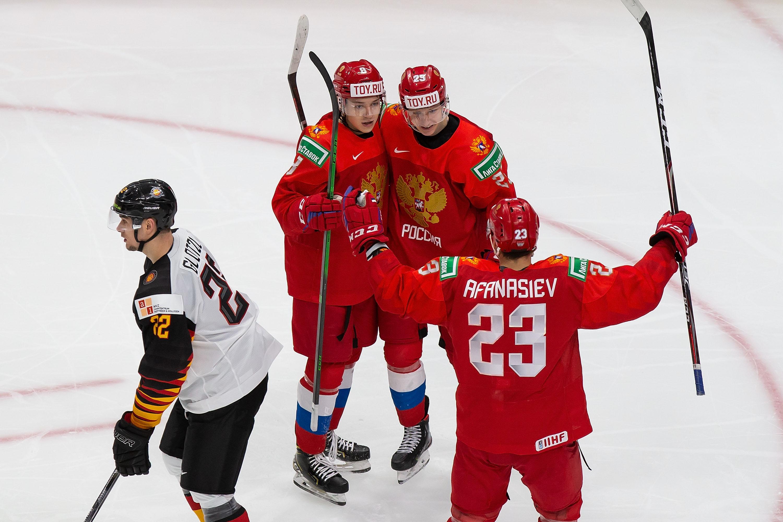 Russia v Germany: Quarterfinals - 2021 IIHF World Junior Championship