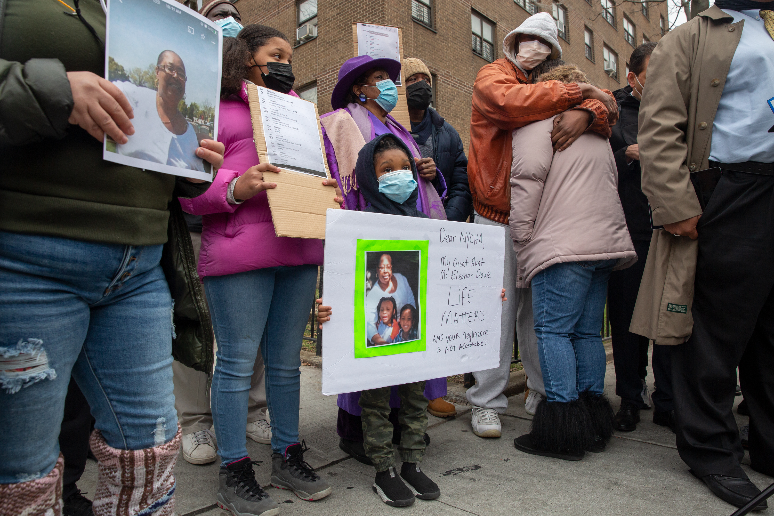 Eleanor Dowe's family blasted NYCHA over broken elevators on the Webster Houses on The Bronx, Jan. 5, 2020.