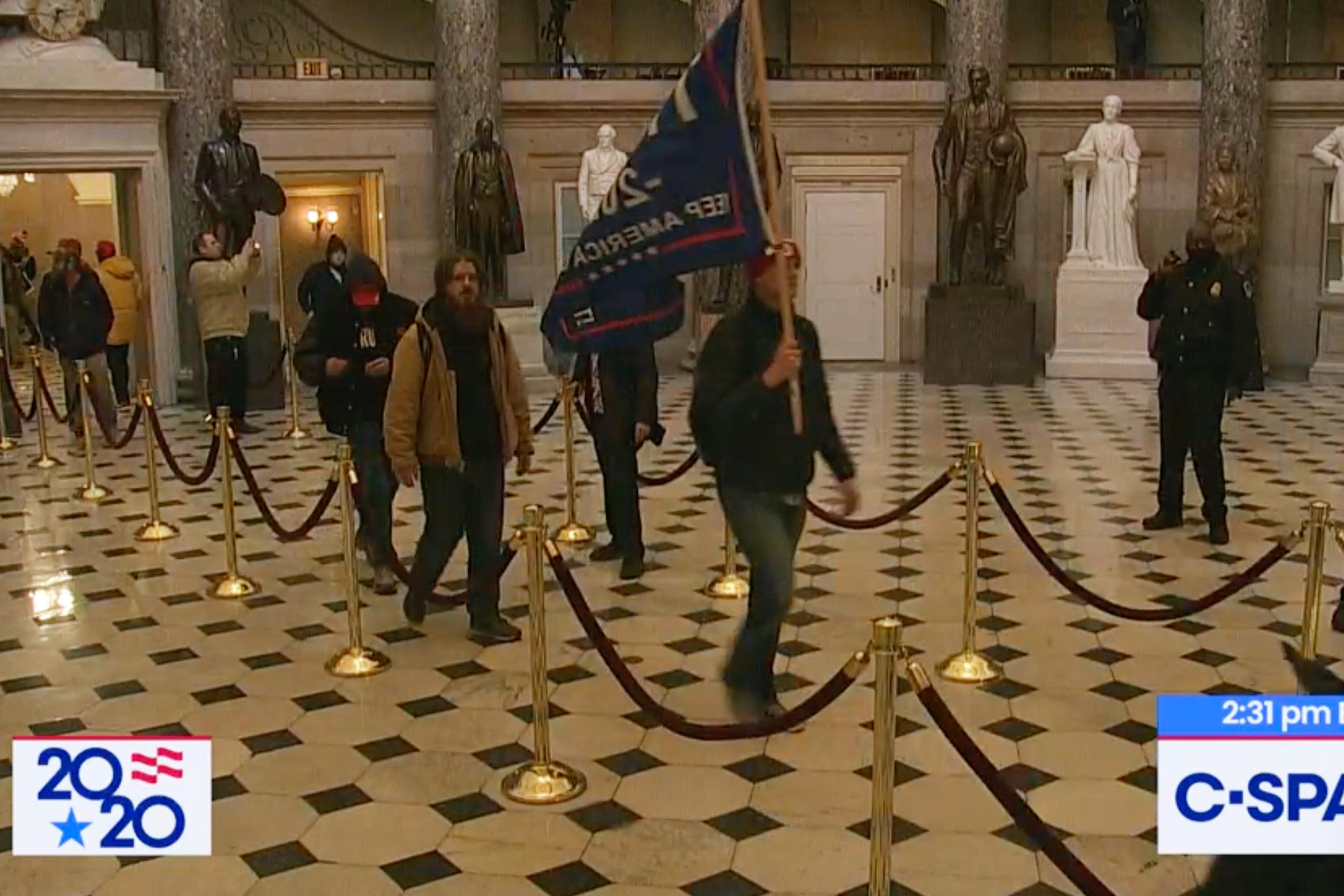 Trump supporters storm the U.S. Capitol, Jan. 6, 2020.
