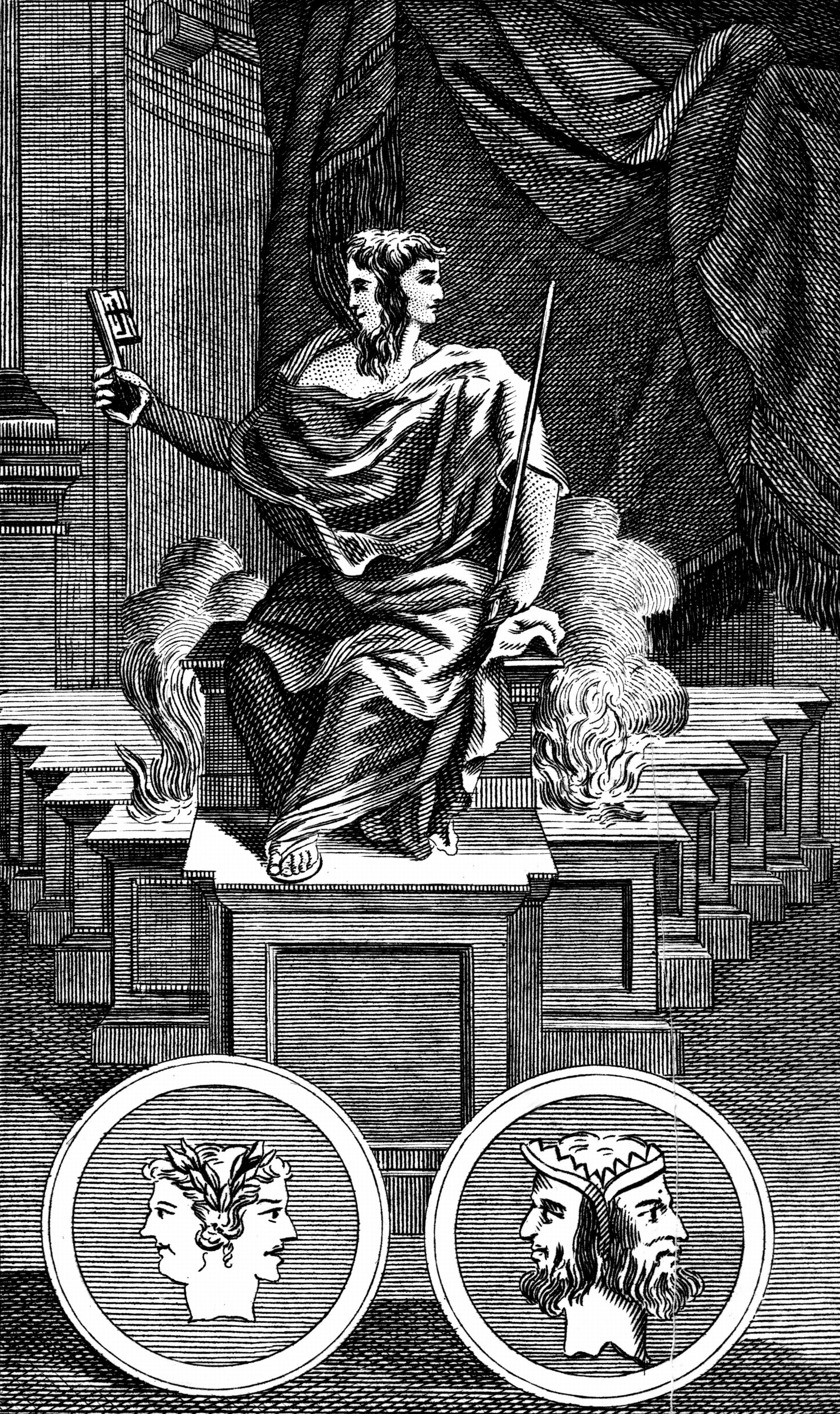 Janus - Two-faced Roman god for whom the month January is named