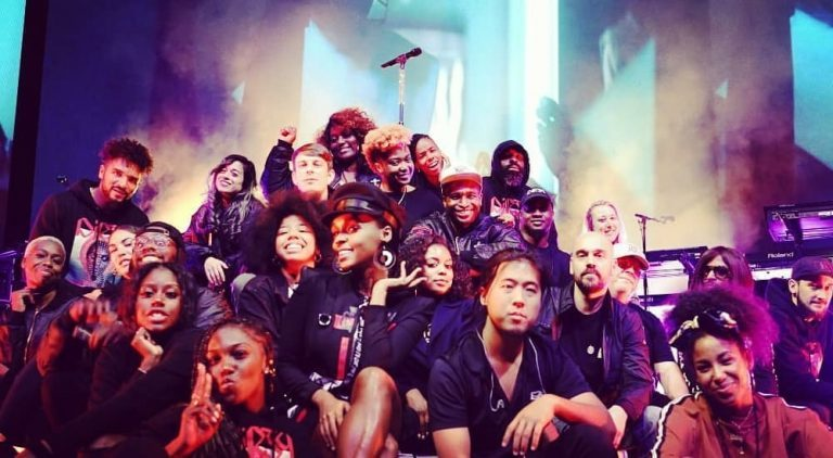 Janelle Monae and touring team