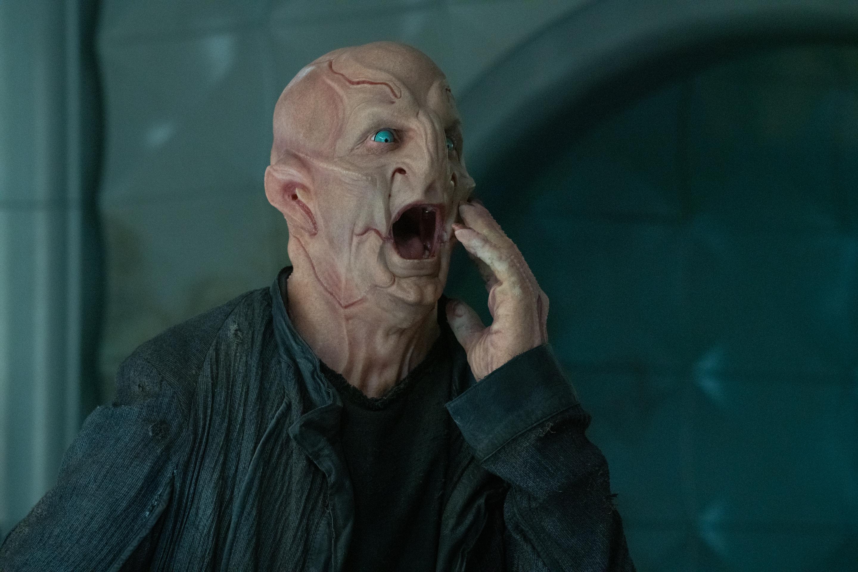 The Kelpian Su'Kal screams in Star Trek: Discovery