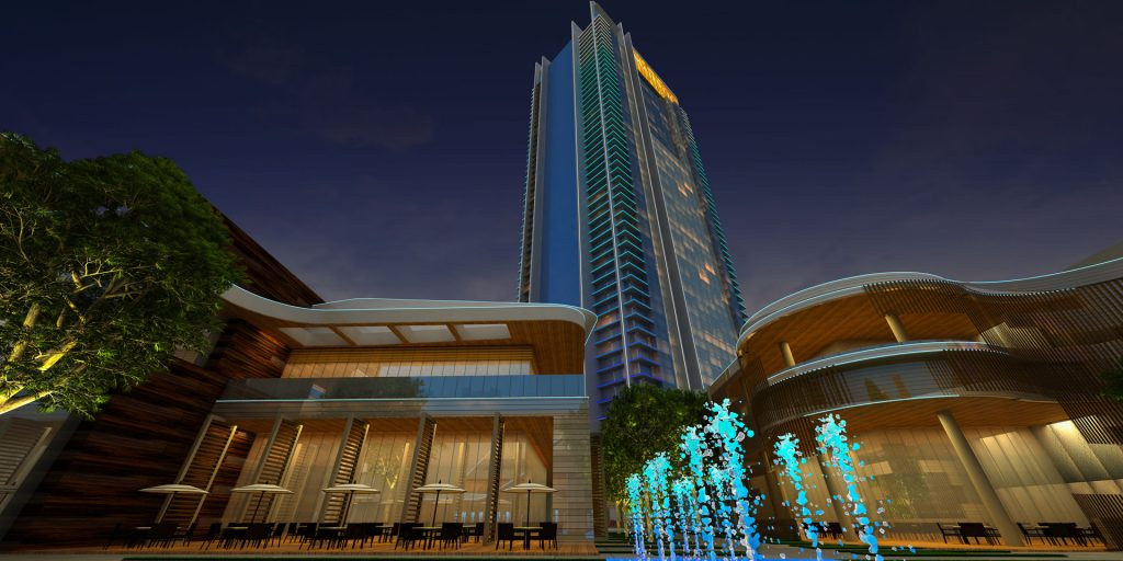 A rendering of a new hotel