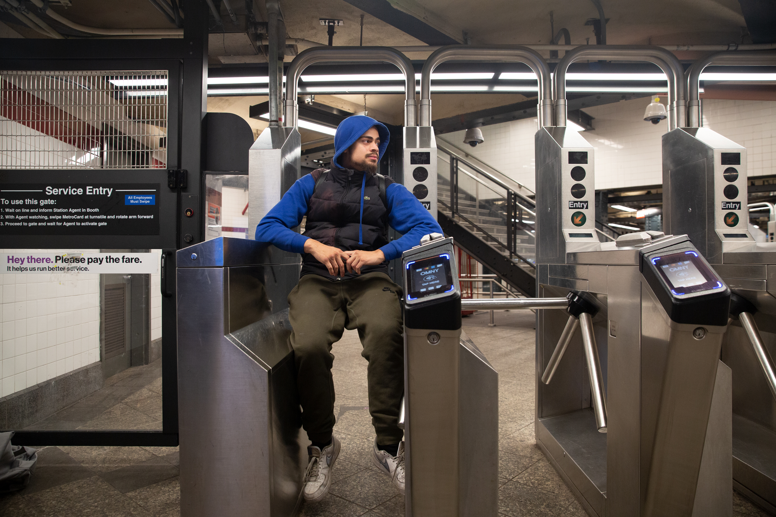 Jesus Soto said he doesn't feel welcome in the new Moynihan Hall. In Penn Station, Jan. 5, 2020.