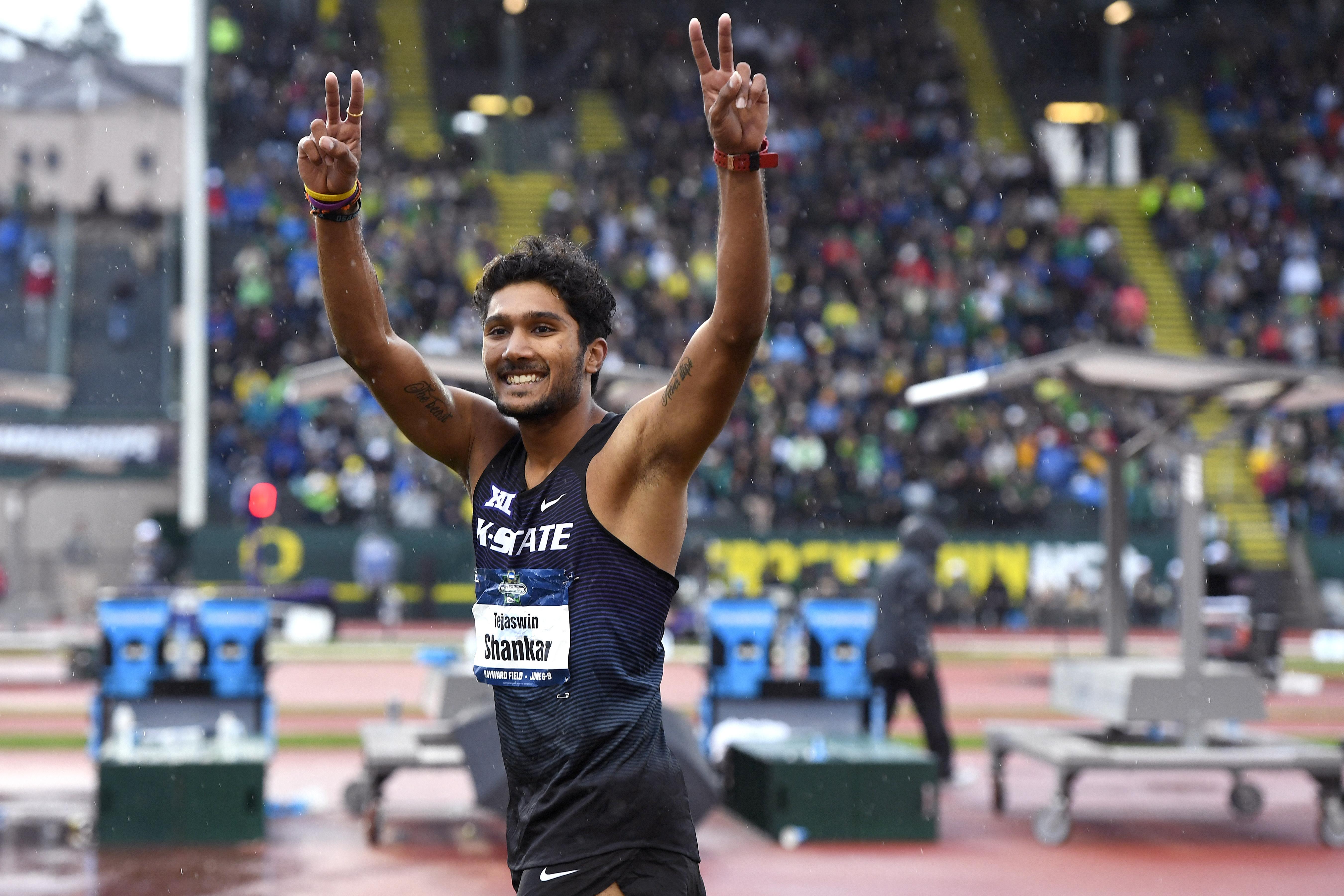 Tejaswin Shankar did NOT win the high jump.
