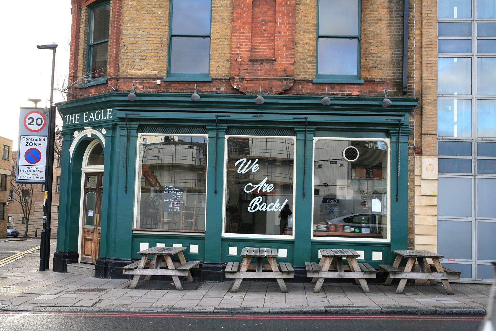 One of the country's original gastropubs, The Eagle in Farringdon closed during the coronavirus lockdown in London