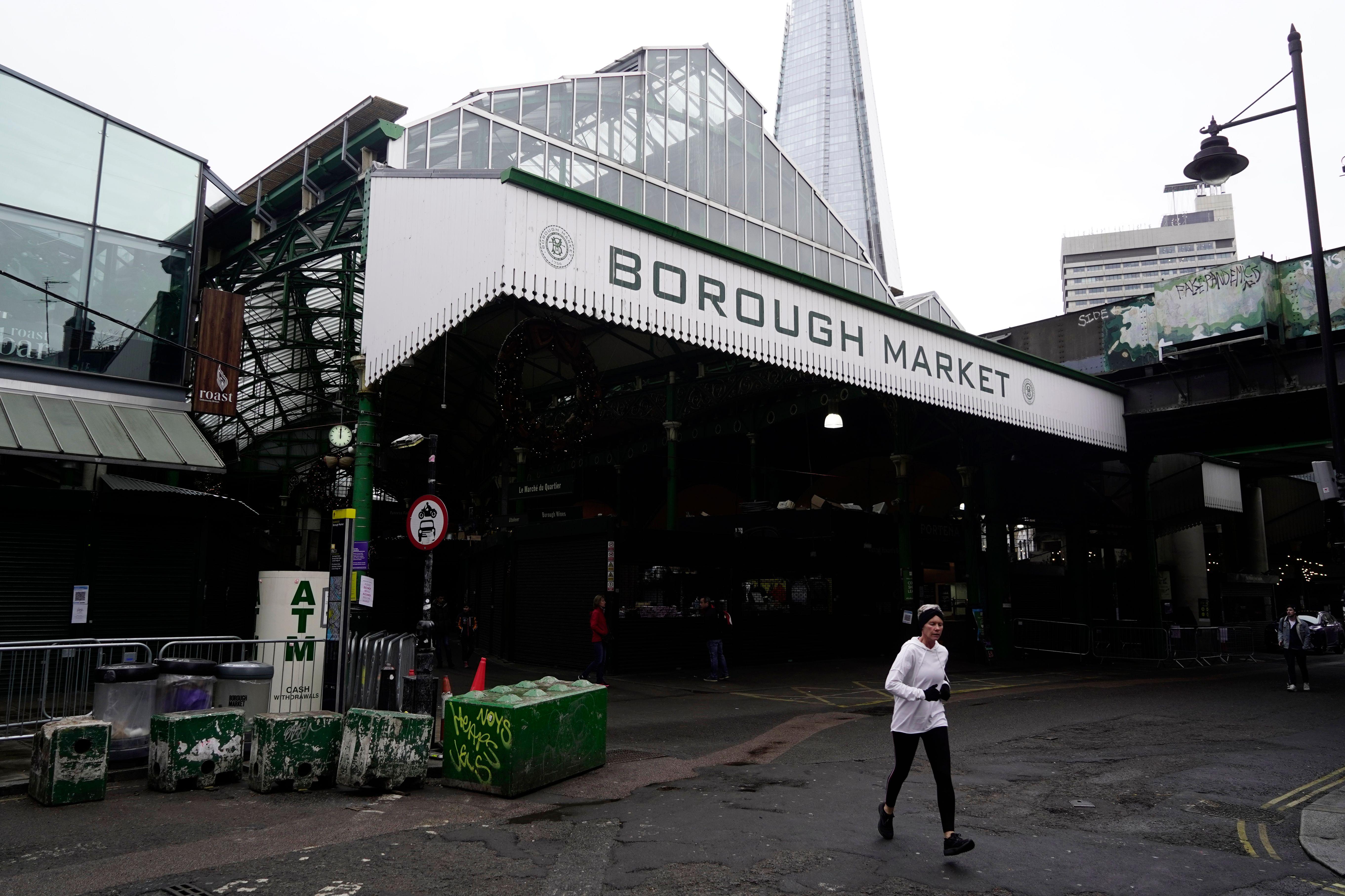 The exterior of Borough Market in London Bridge