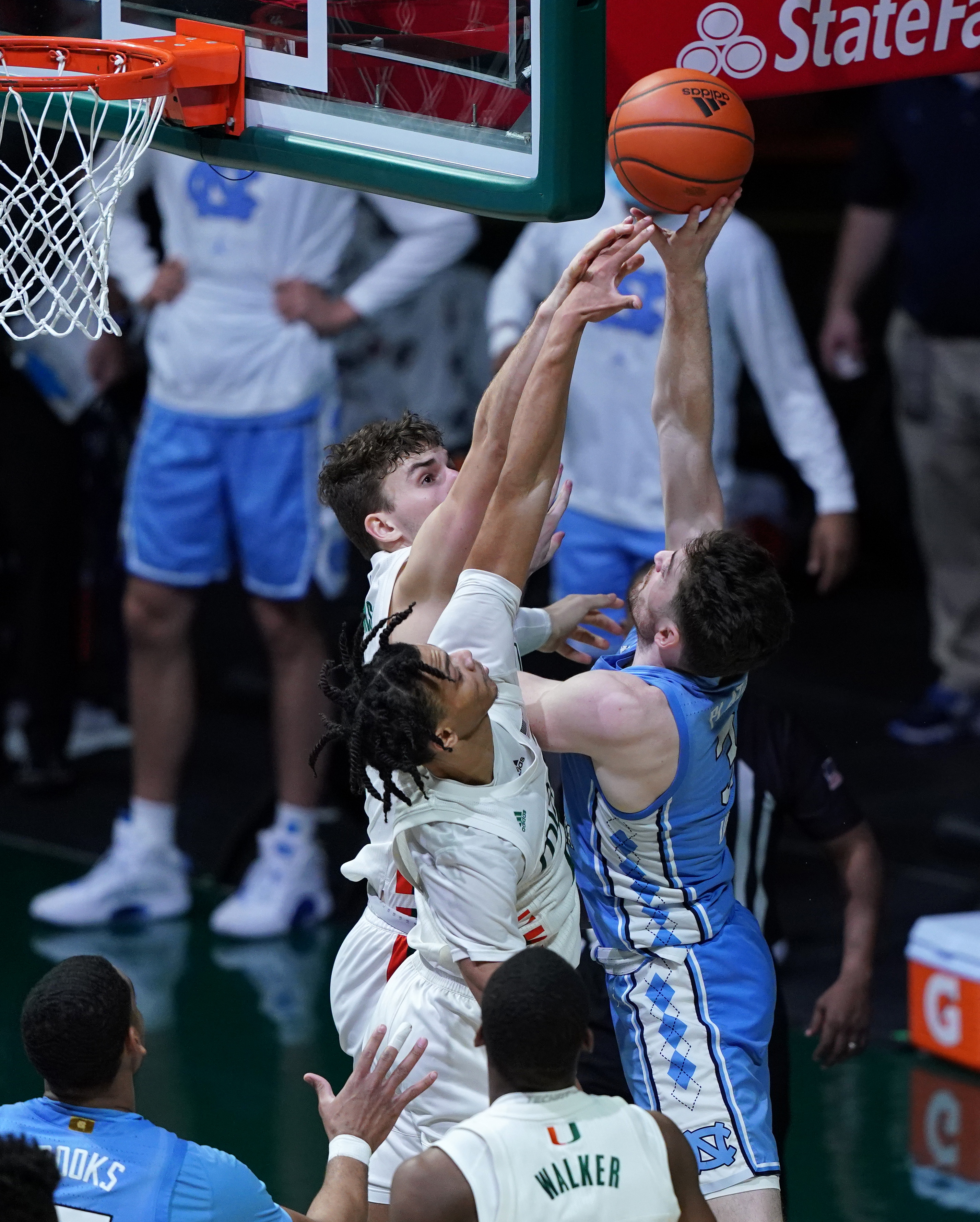 NCAA Basketball: North Carolina at Miami-Florida