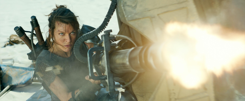 Milla Jovovich fires a giant honkin' gun in Monster Hunter
