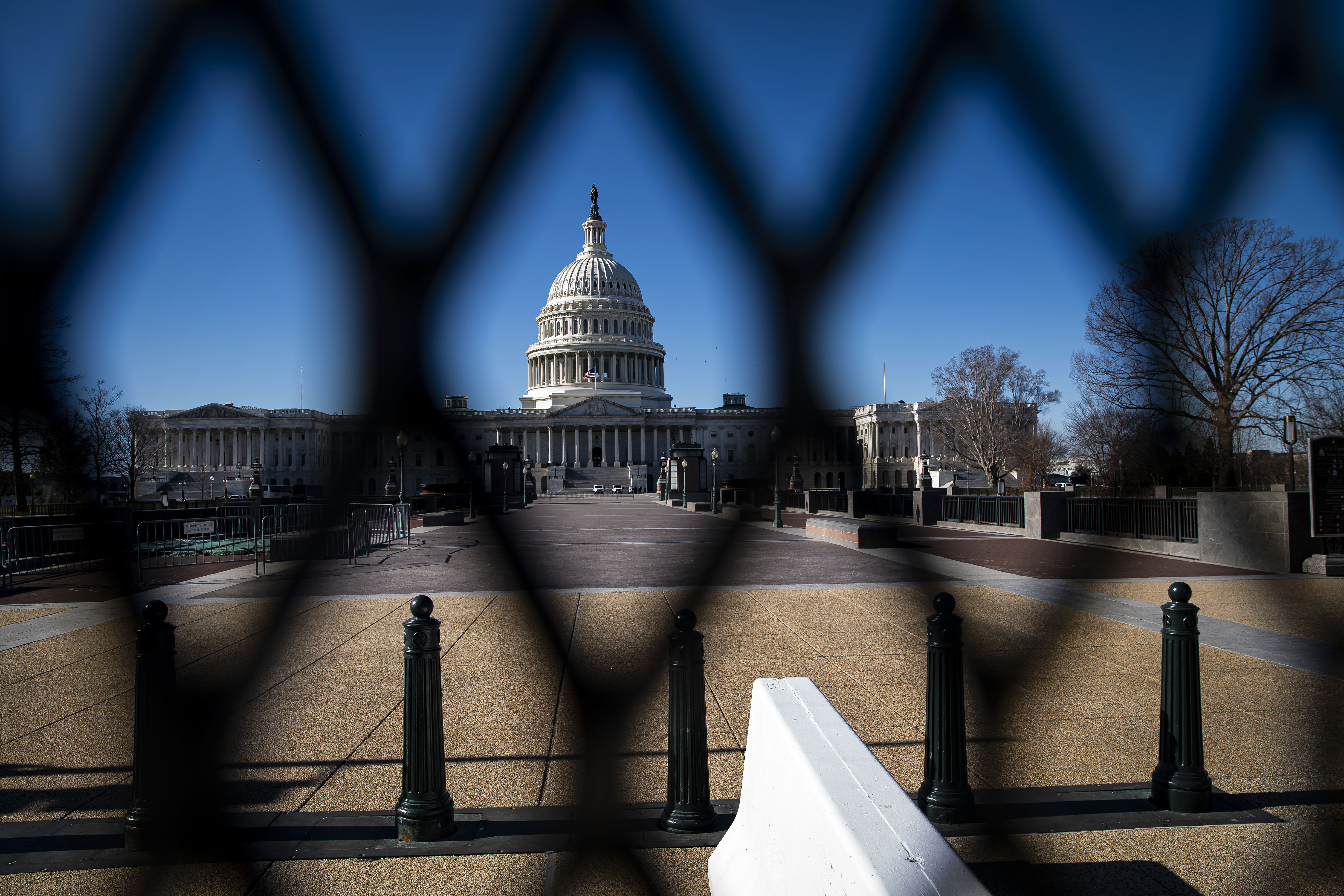 The US Capitol, behind security fencing, on January 10.