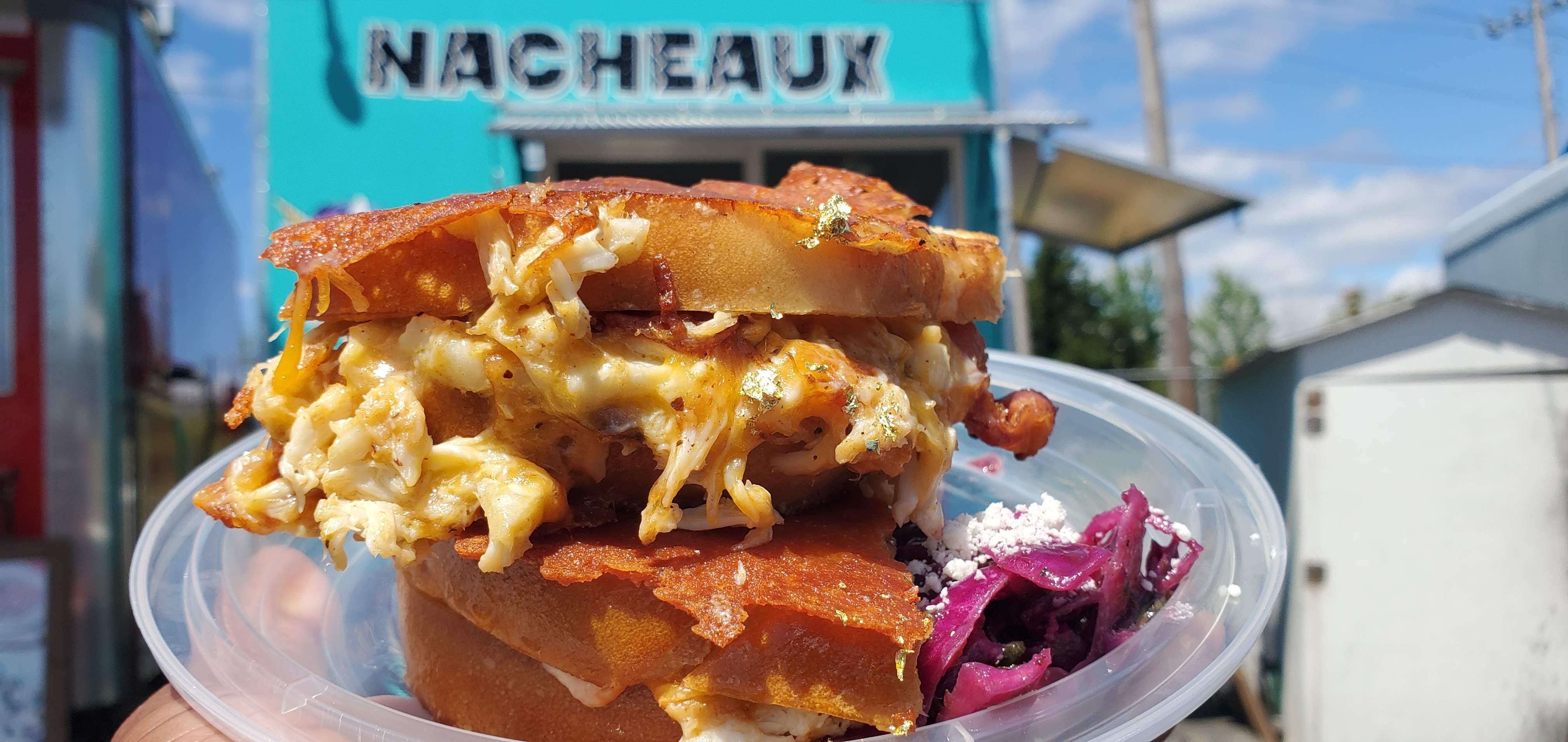 Nacheaux food cart sandwich