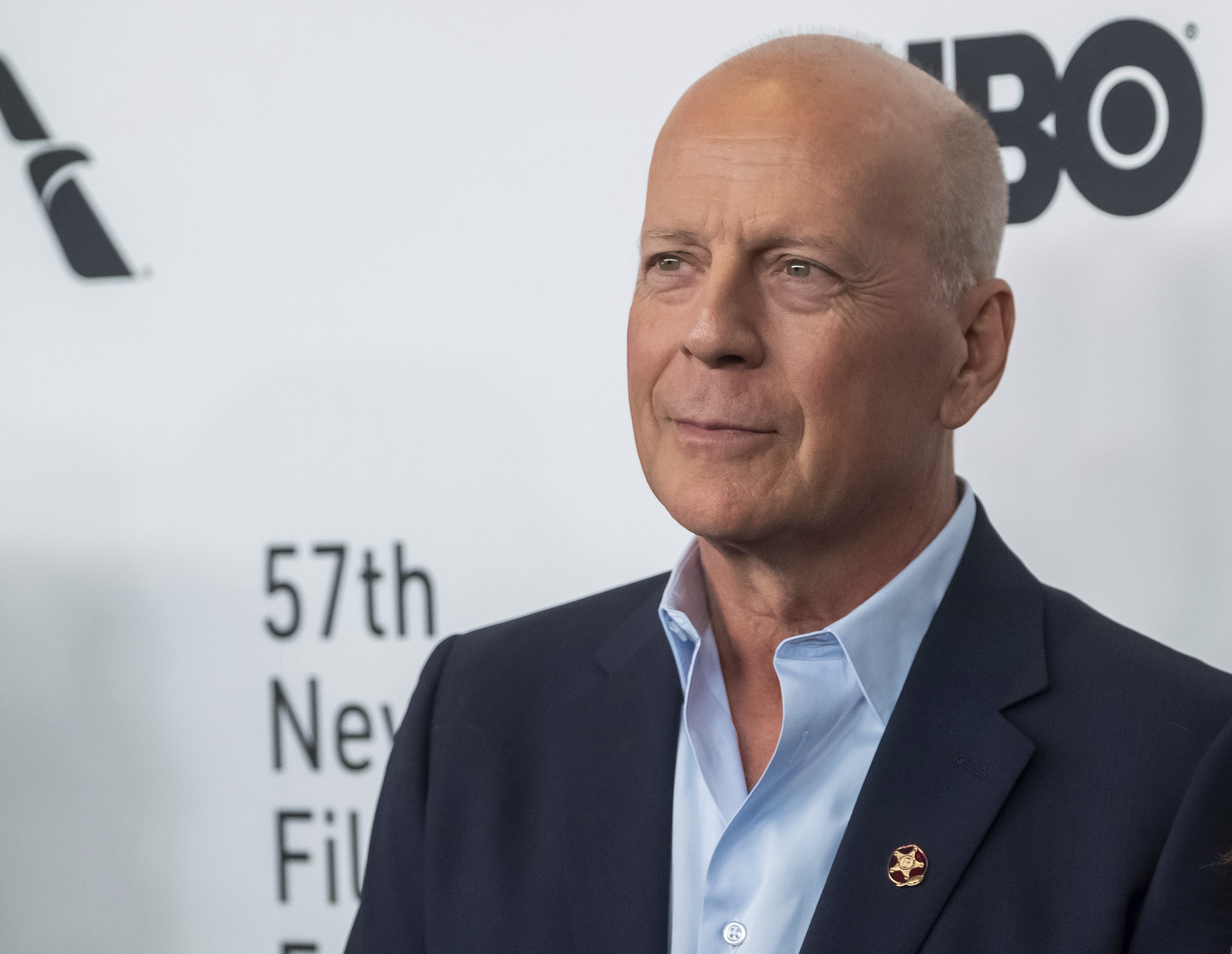 """Bruce Willis attends the """"Motherless Brooklyn"""" premiere during the 57th New York Film Festival at Alice Tully Hall on Friday, Oct. 11, 2019, in New York."""